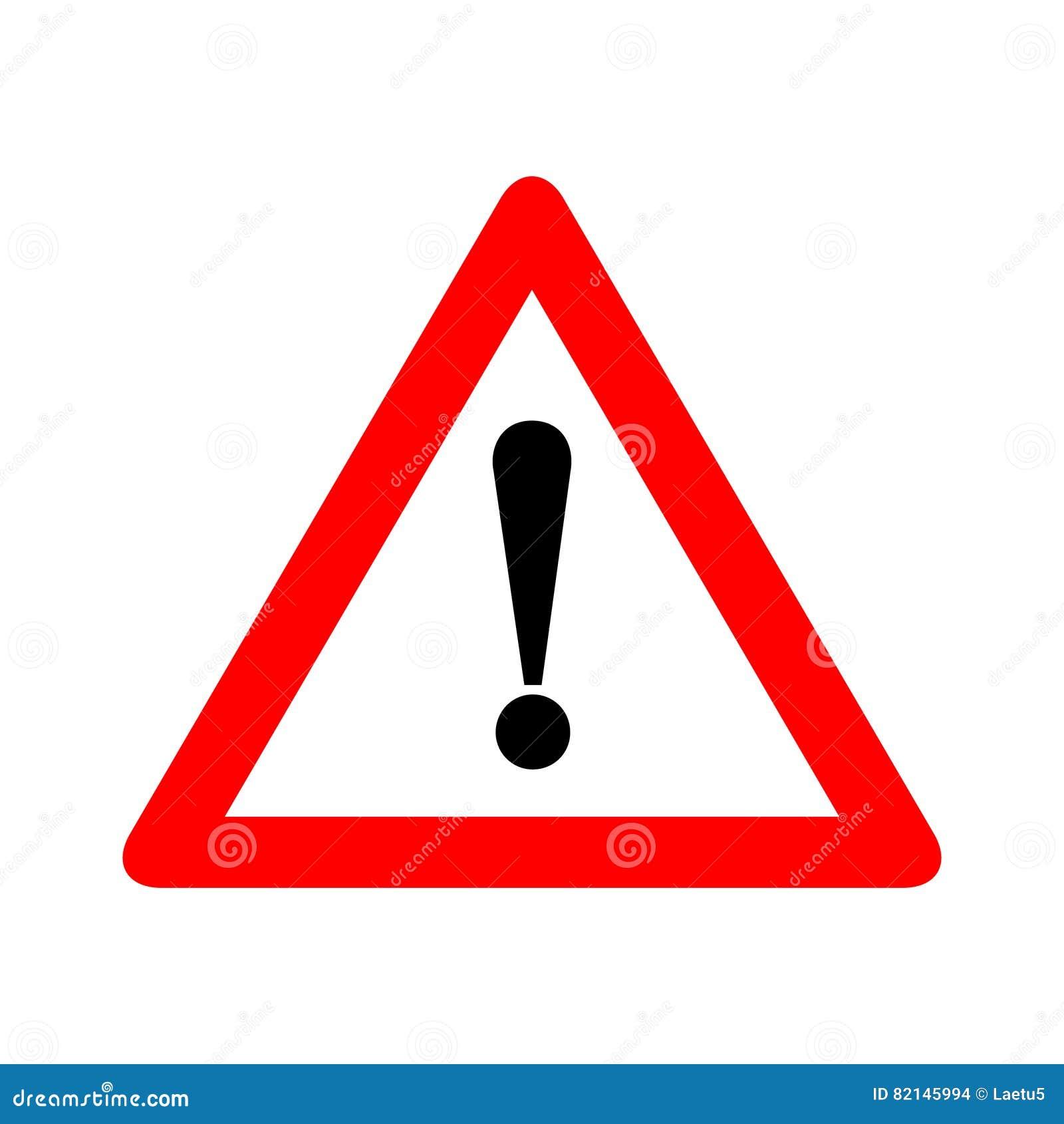 Röd illustration för vektor för tecken för varning för triangelvarningsvarning som isoleras på vit bakgrund Var försiktig, gör in