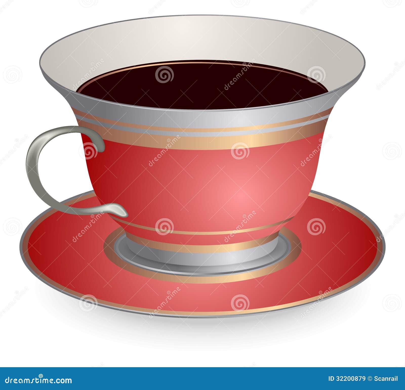 Röd kopp kaffe