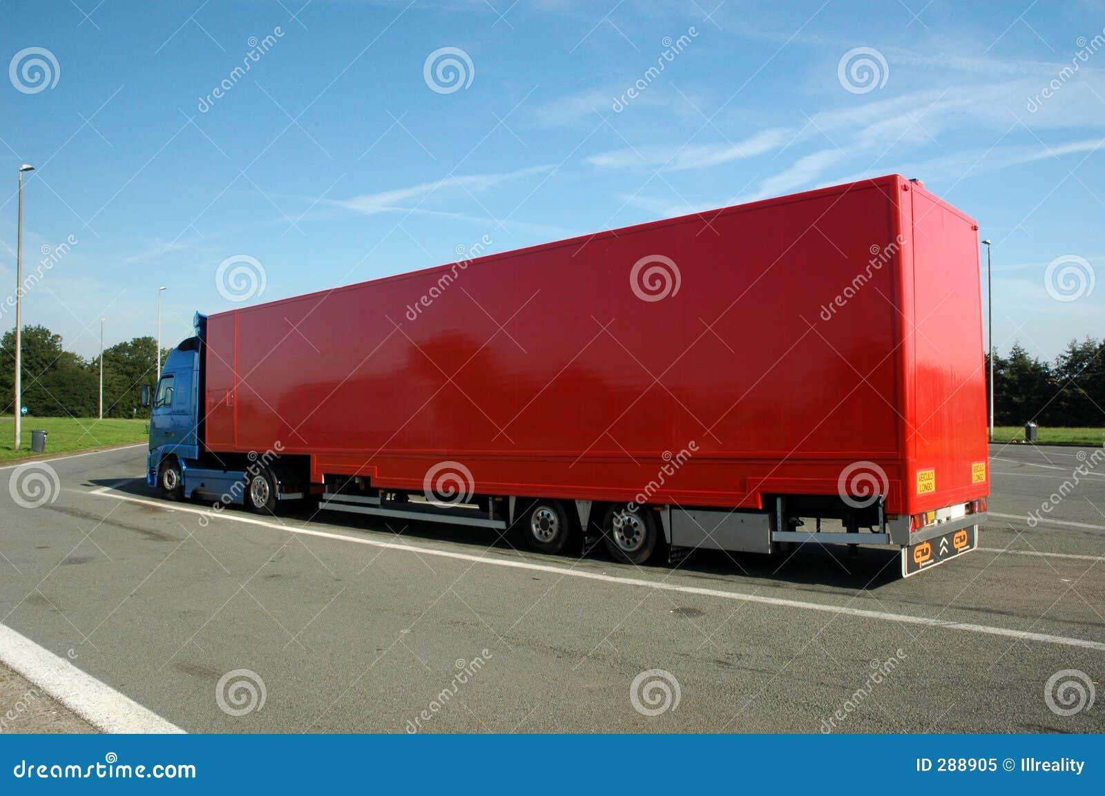 Röd lastbil