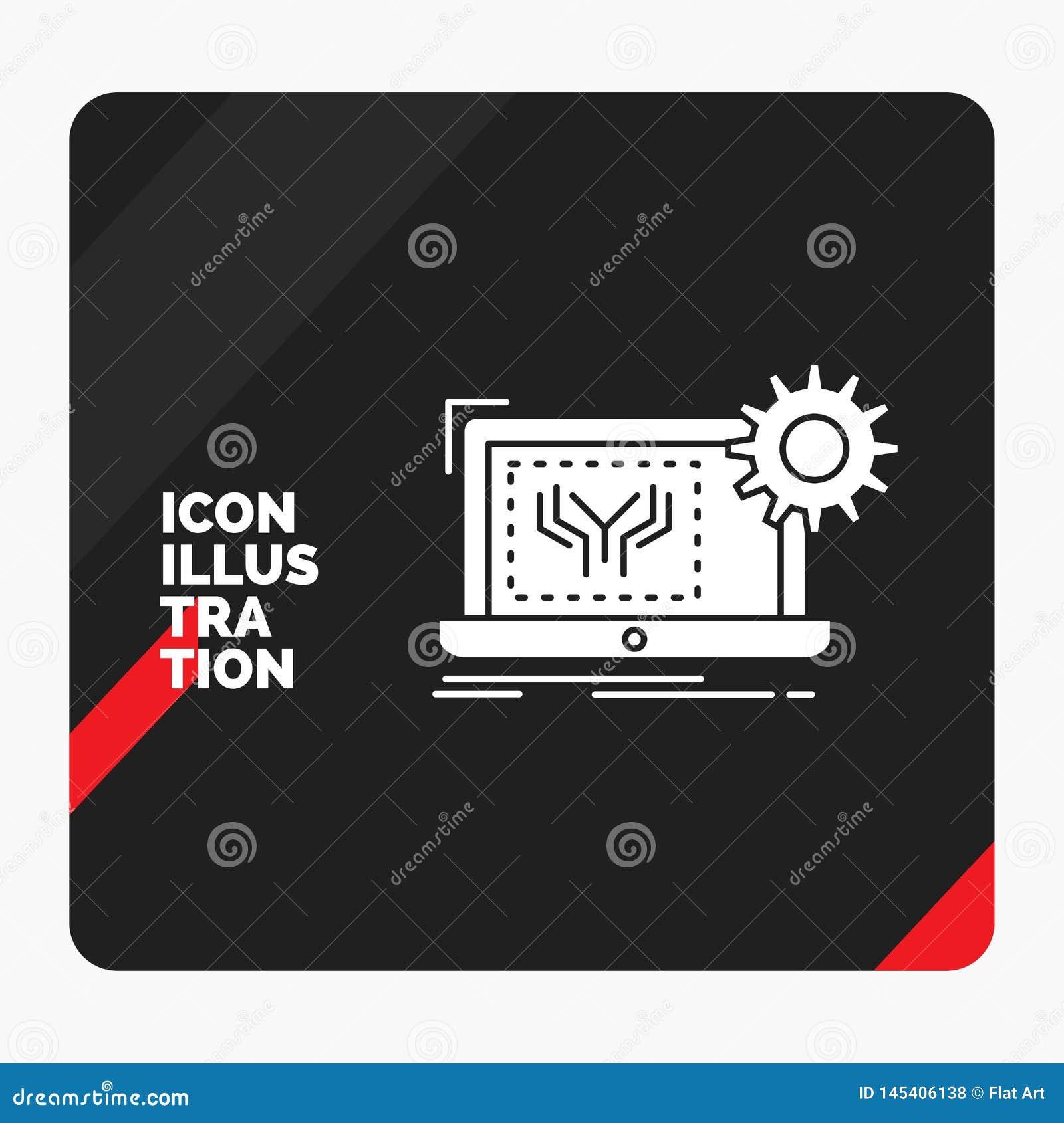 Röd och svart idérik presentationsbakgrund för ritningen, strömkrets, elektronik, teknik, maskinvaruskårasymbol