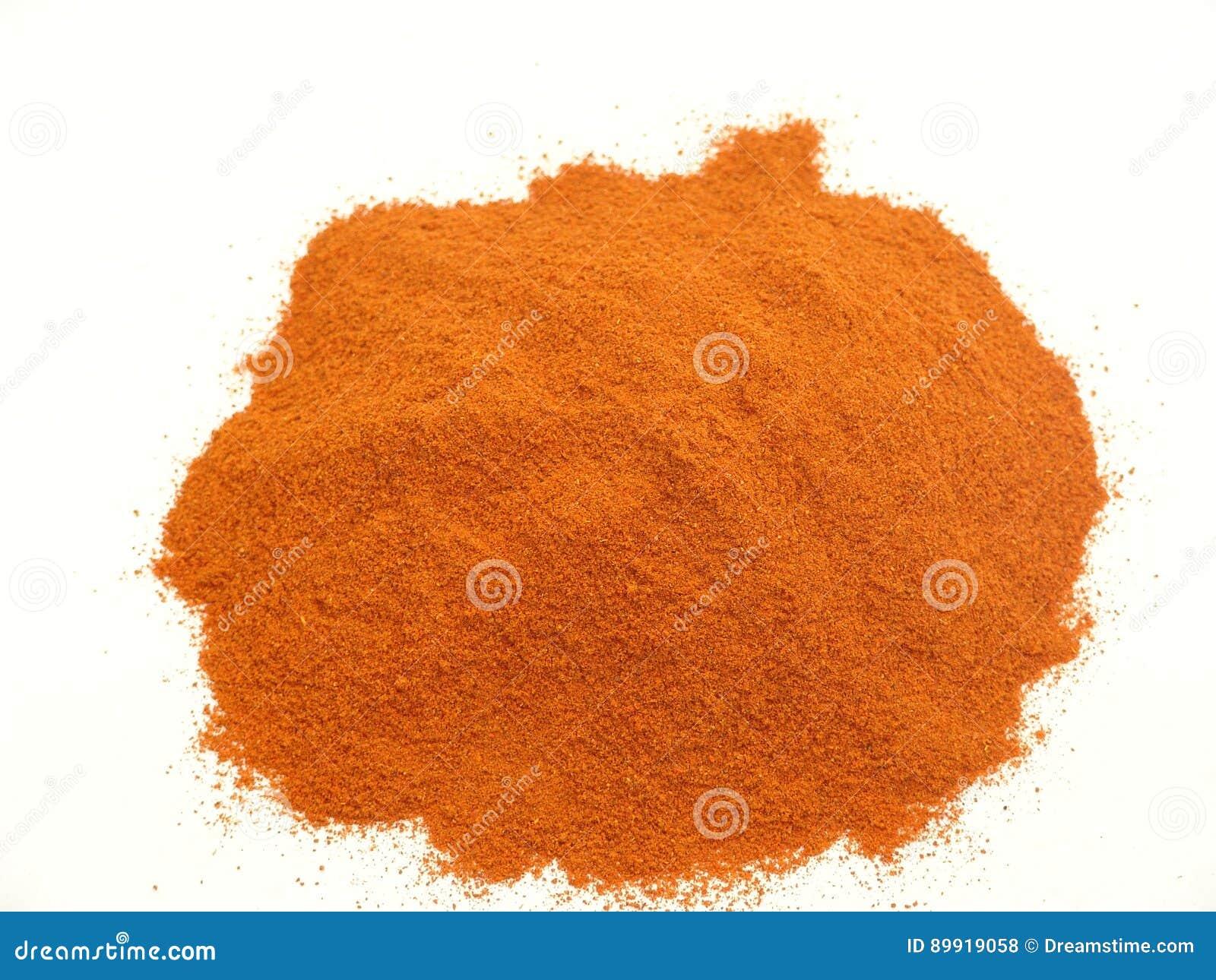 Röd peppar, chili, pulver