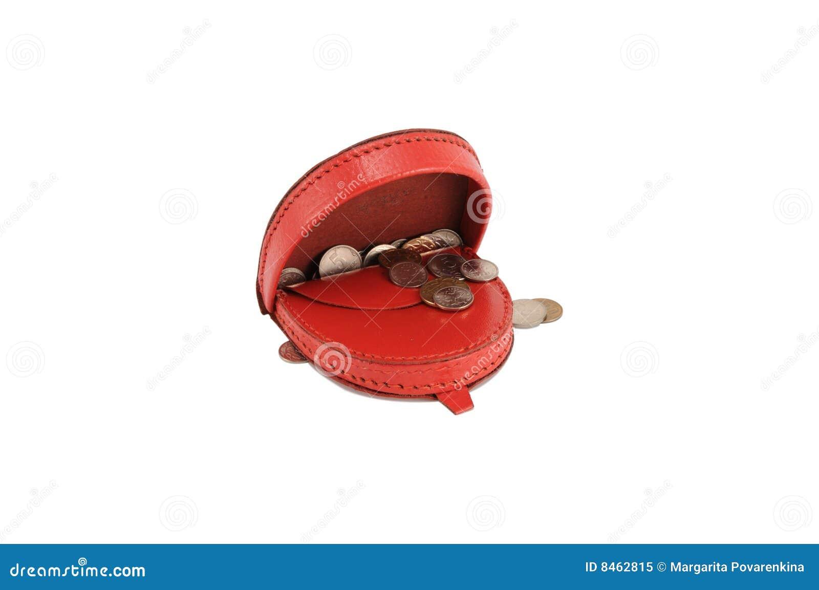 Röd plånbok