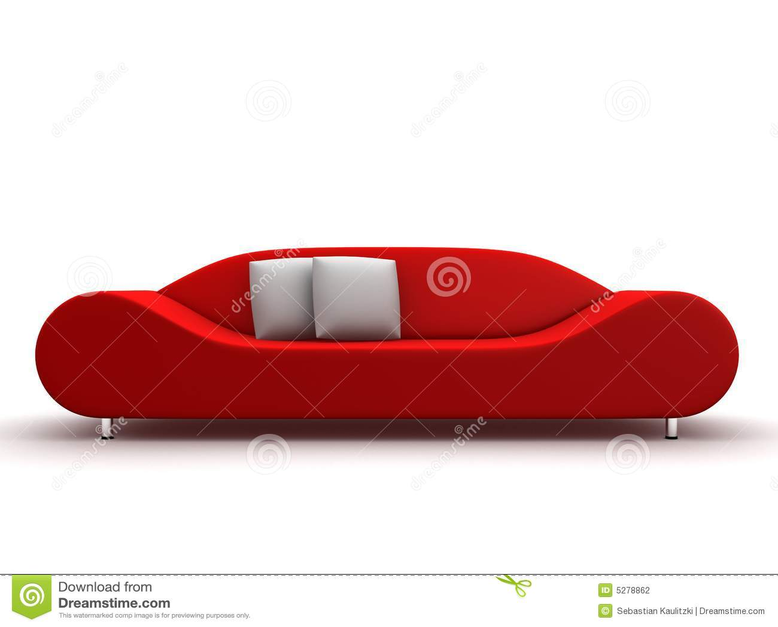 Röd sofa