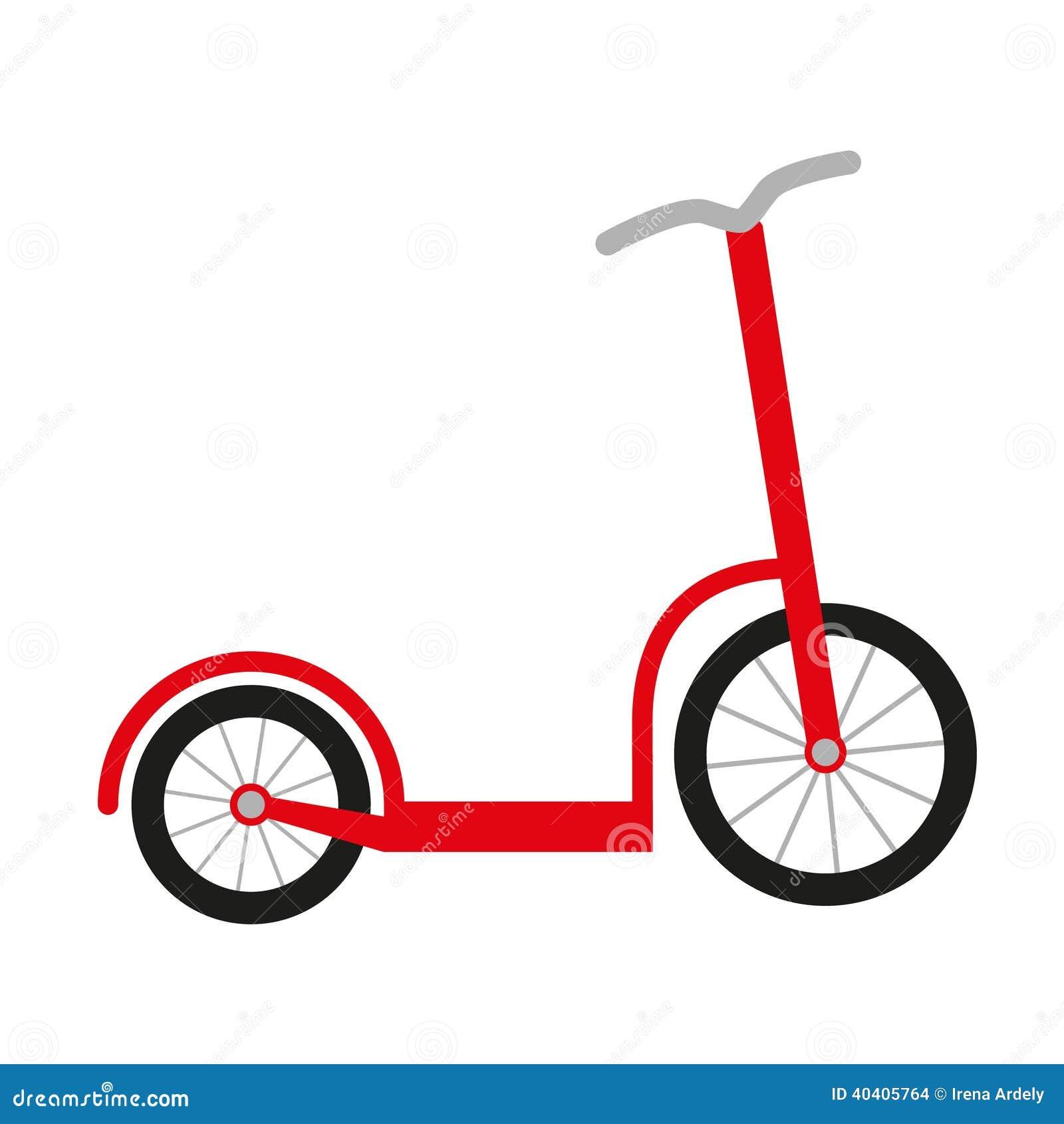 Röd sparkcykel
