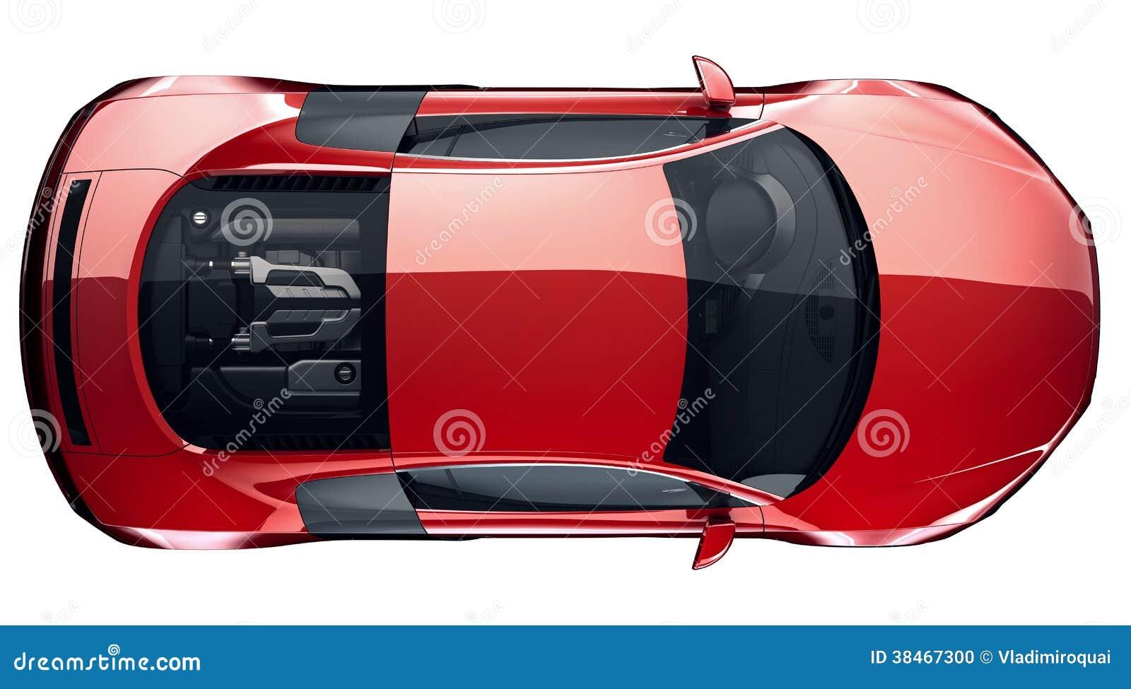 Röd sportbil - bästa sikt