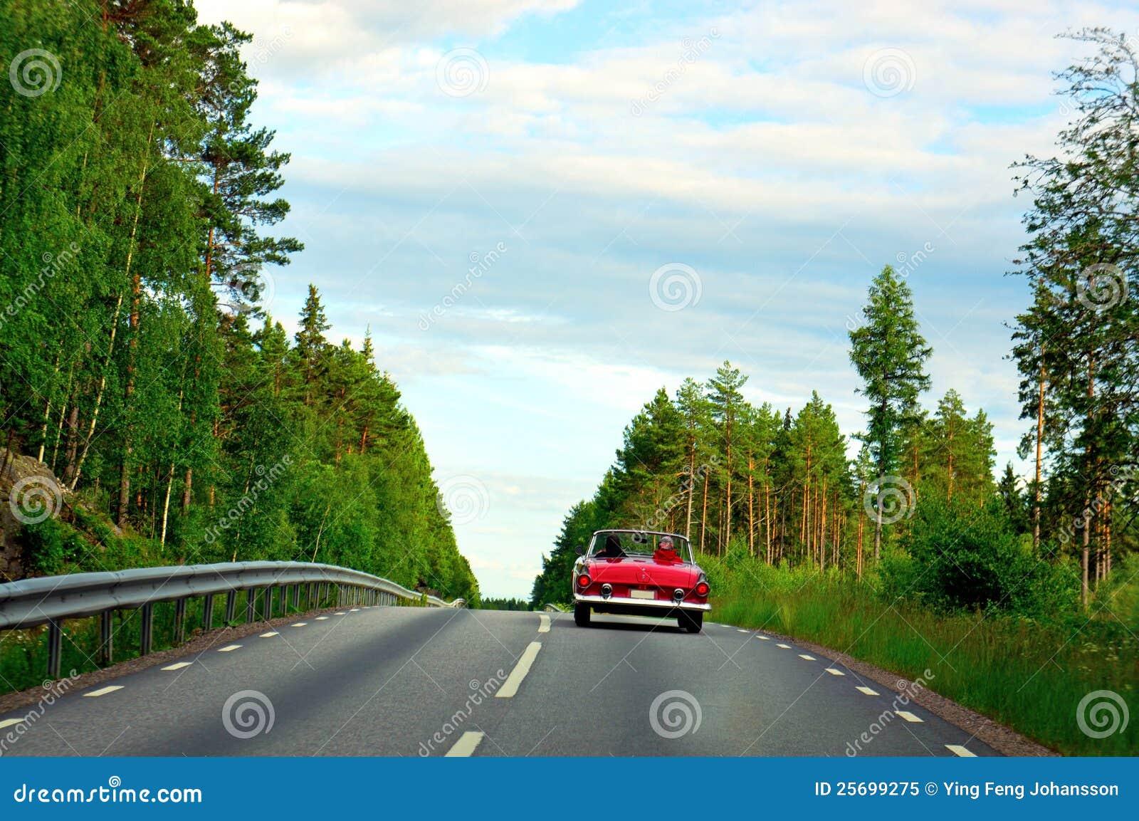 Röd sporttappning för bil