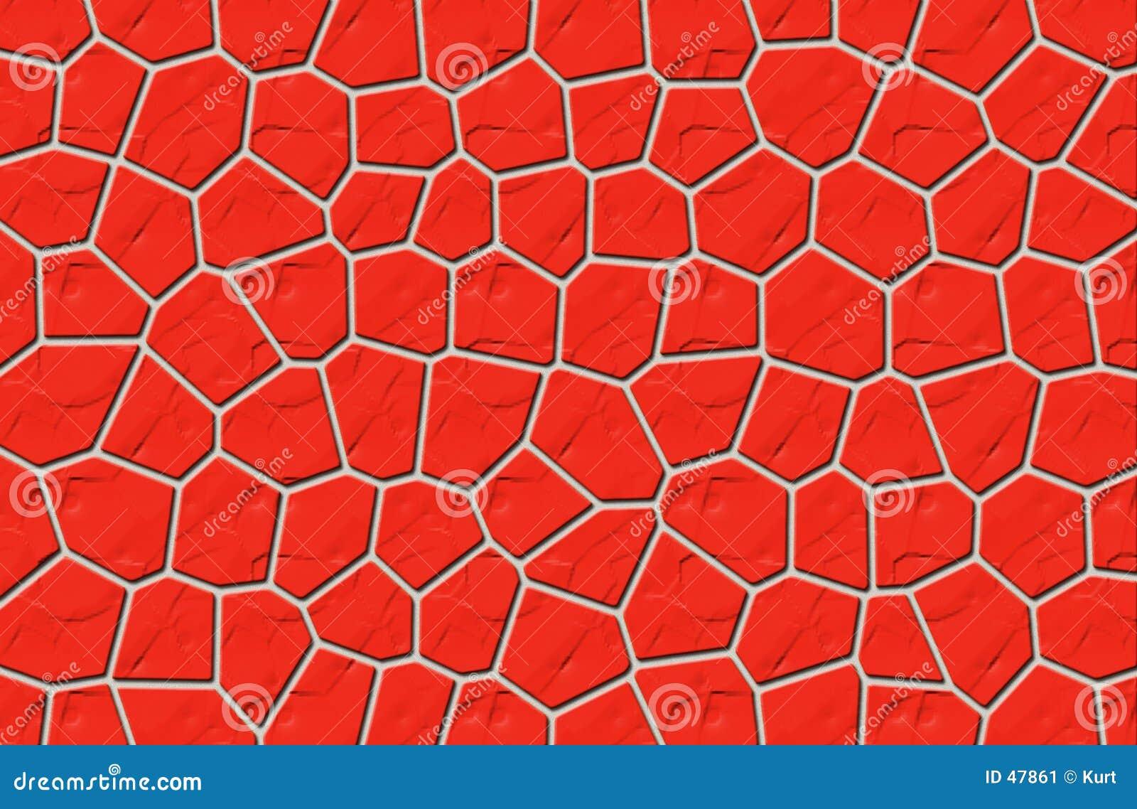Röd stenvägg