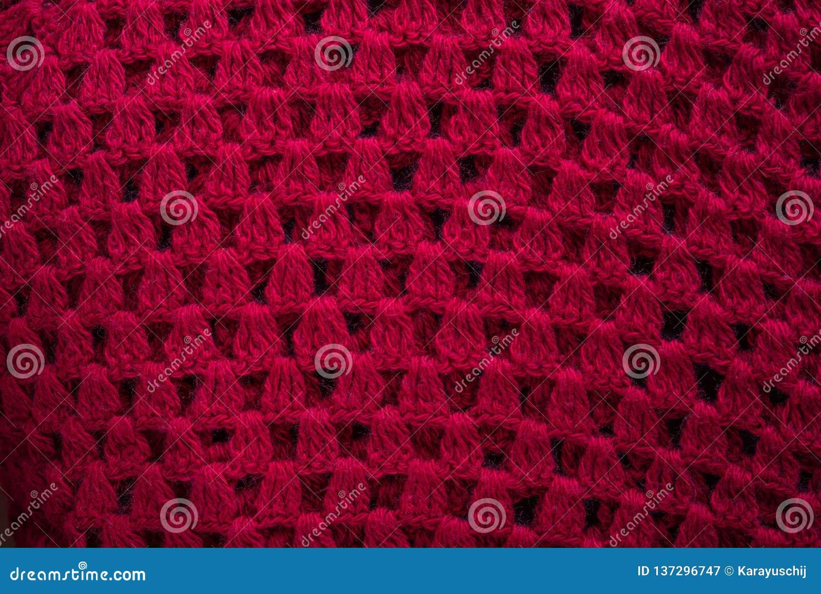 Röd stucken woolen liten vik