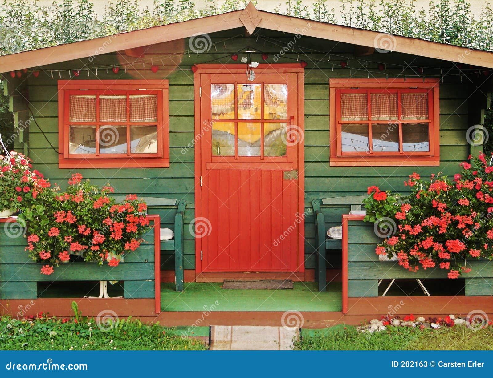 Röd summerhouse