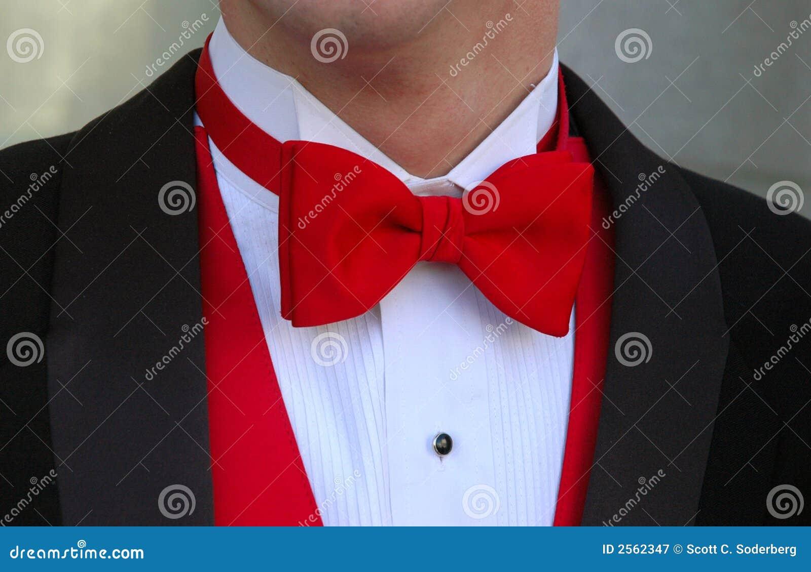 Röd tie för bow