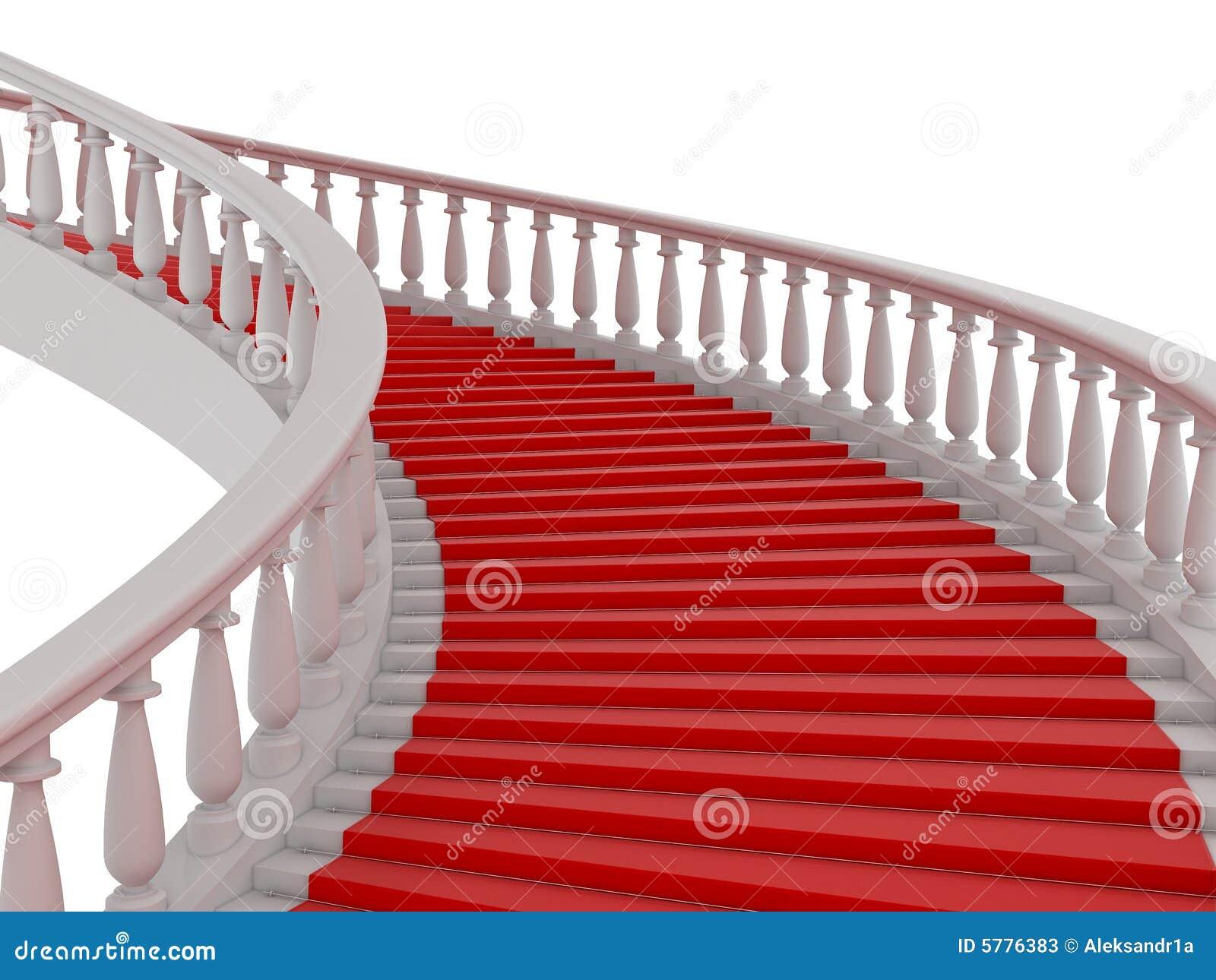Röd trappa