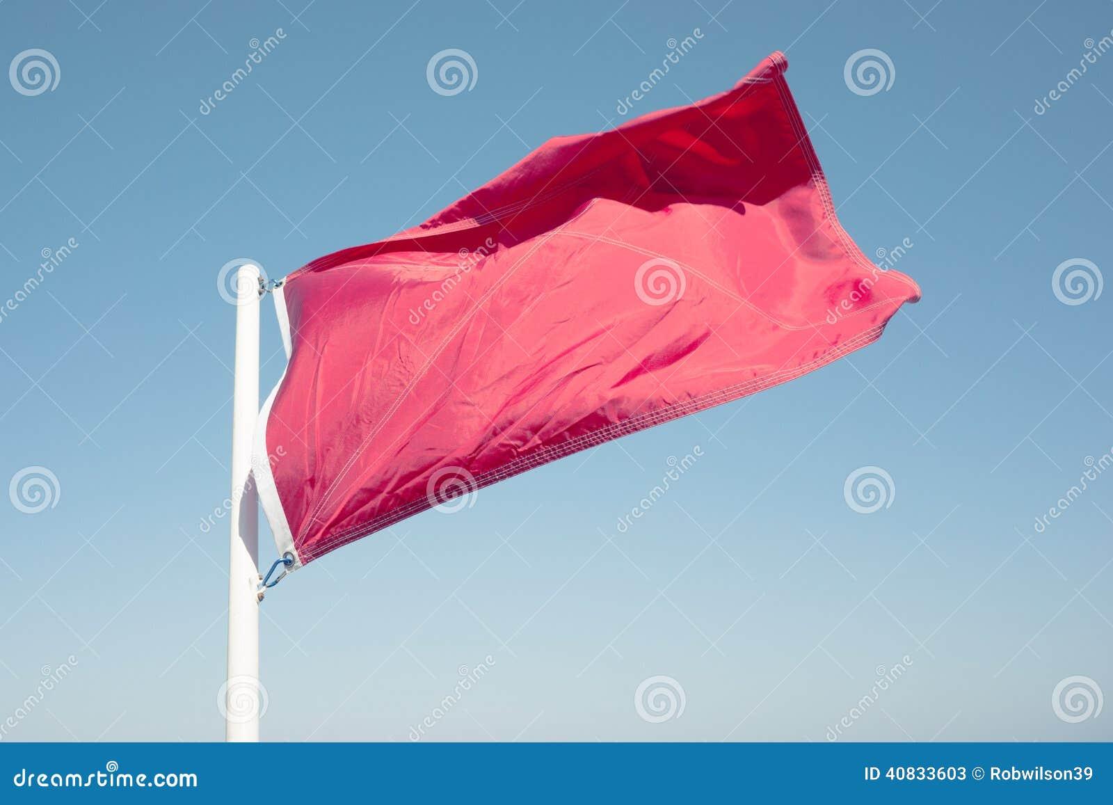 Röd varningsflagga