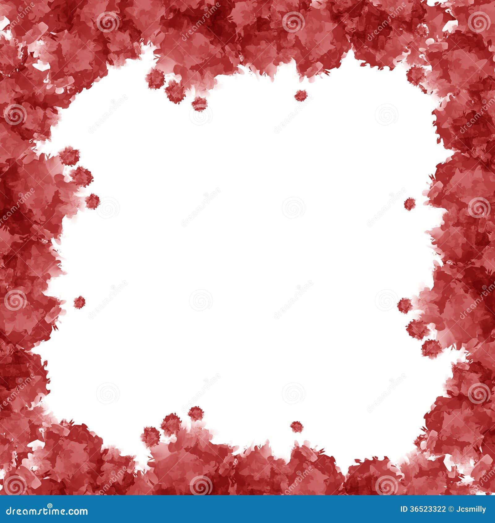 Röd vattenfärgram