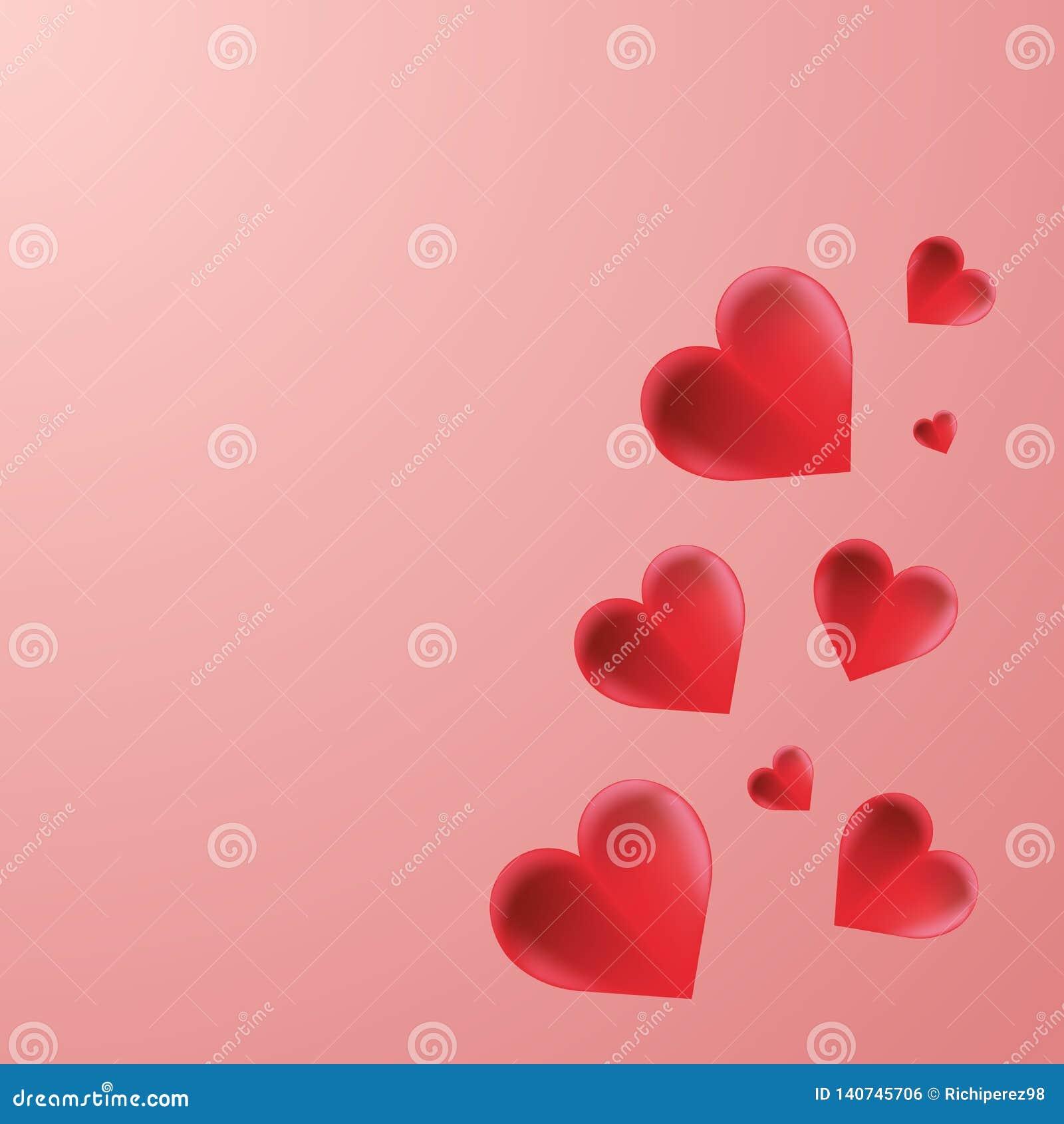 Röd vektor för hjärtabakgrundstapet