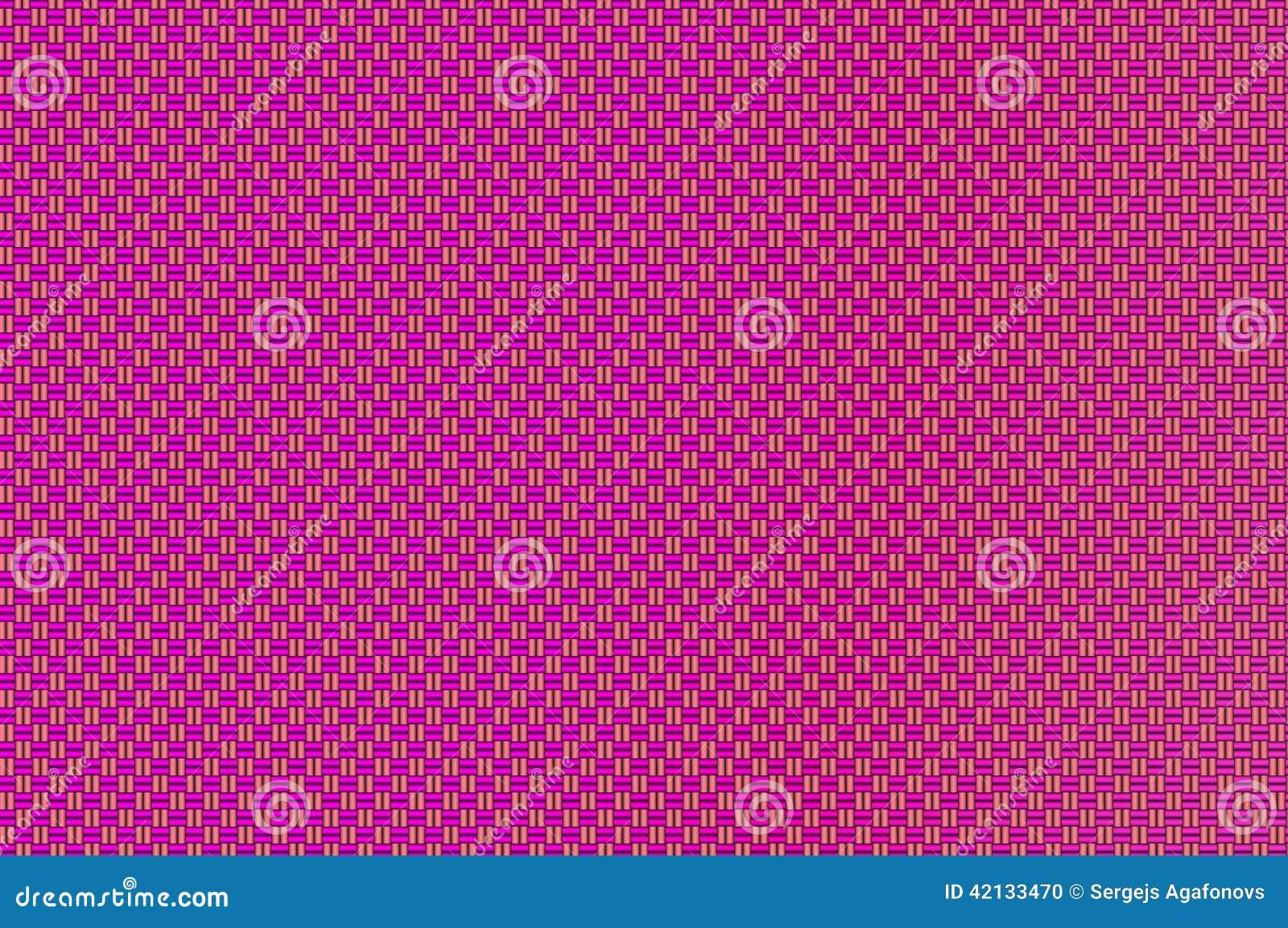 Röd-violett och sandig bruntfyrkantmodell för flätat samman raster -