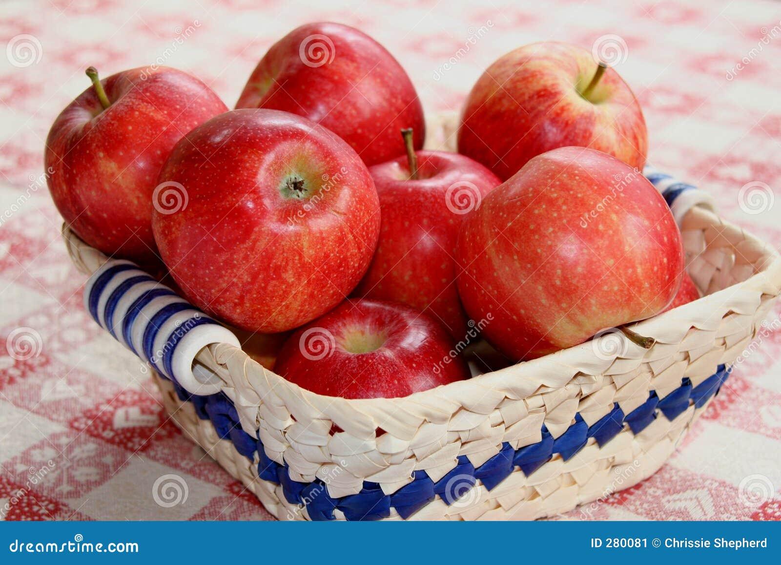 Röd white för äpplekorgtorkduk