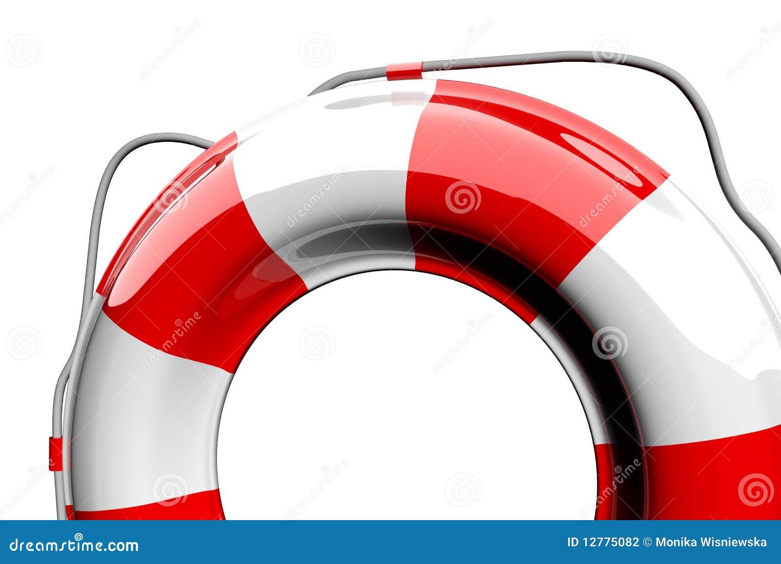 Röd white för lifebelt