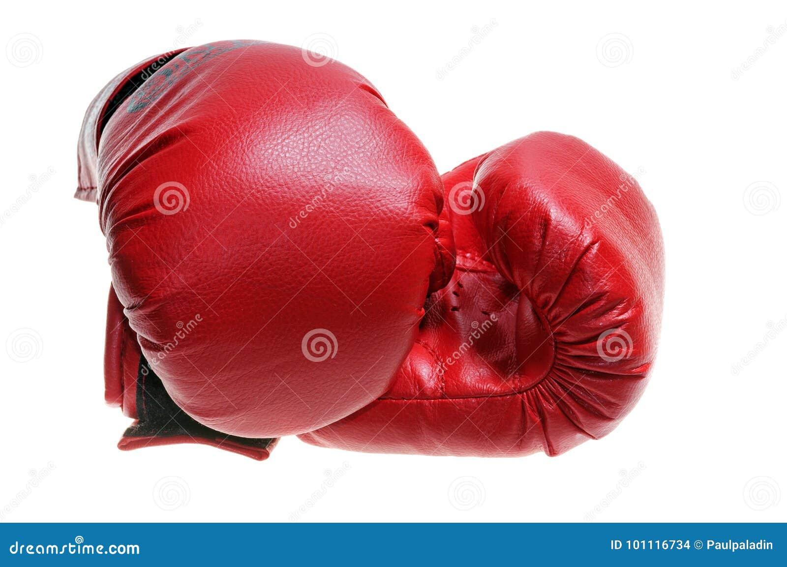 Röda boxninghandskar