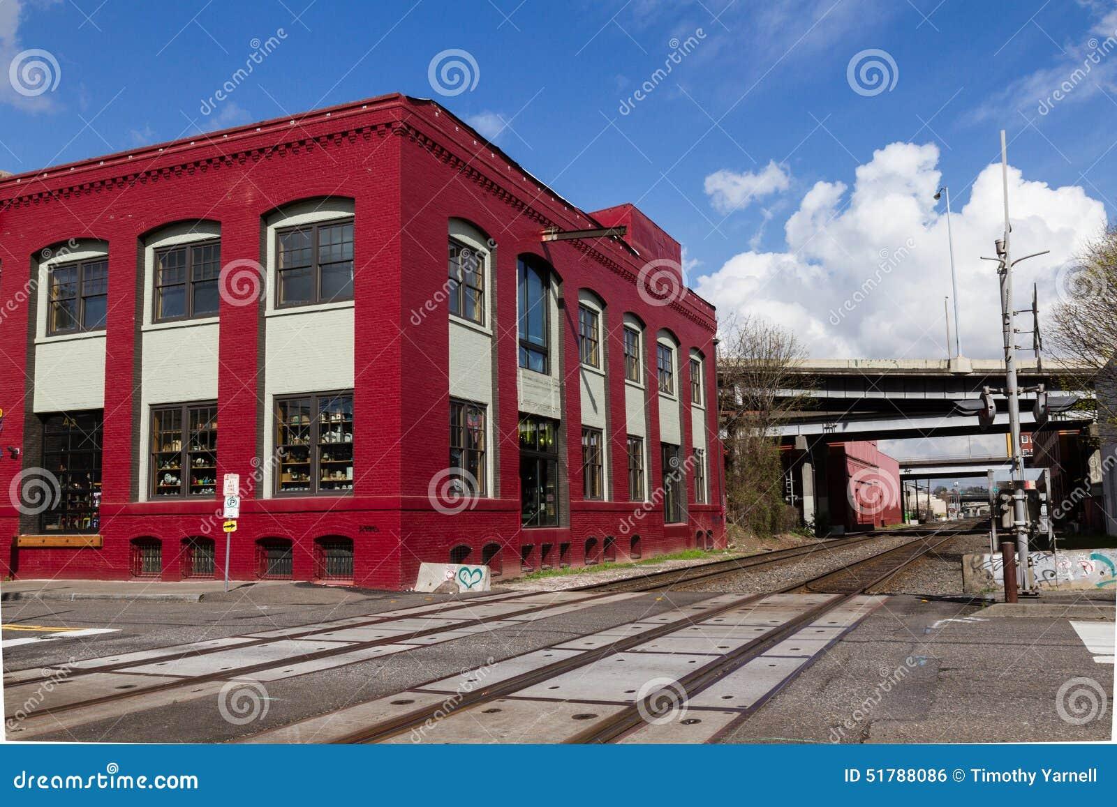 Röda byggnadsjärnvägspår