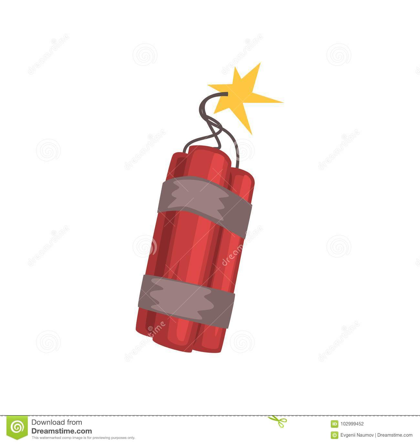 Röda dynamitpinnar med den brinnande filten