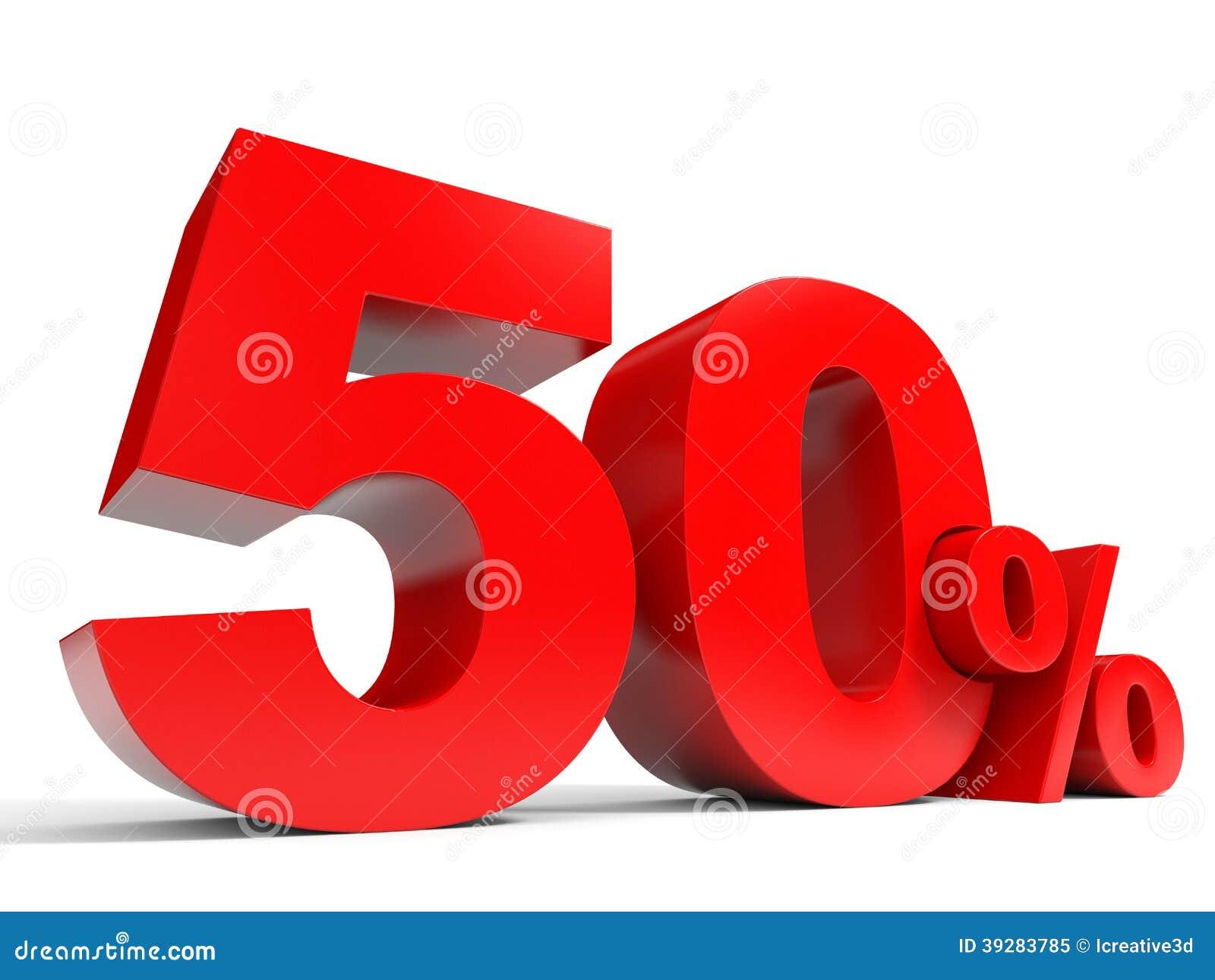 Röda femtio procent av rabatt 50