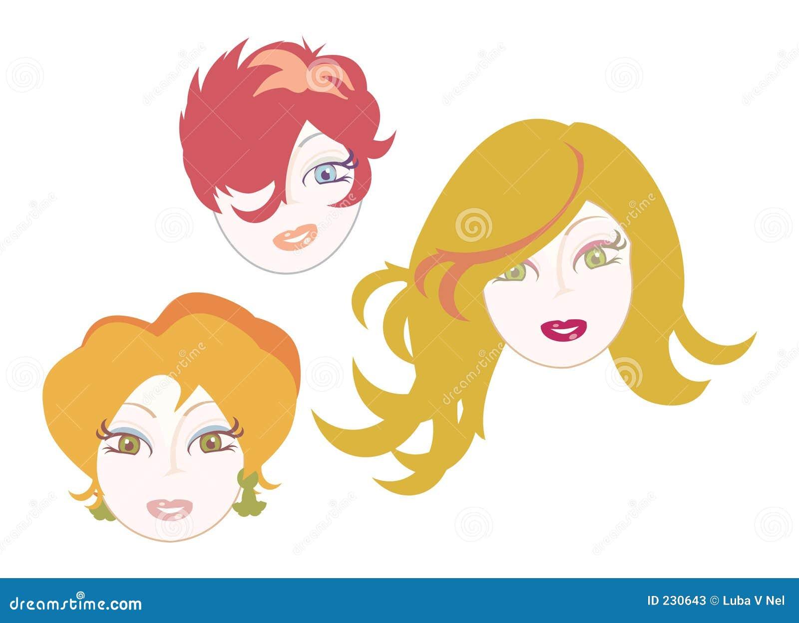 Röda flickahårsymboler