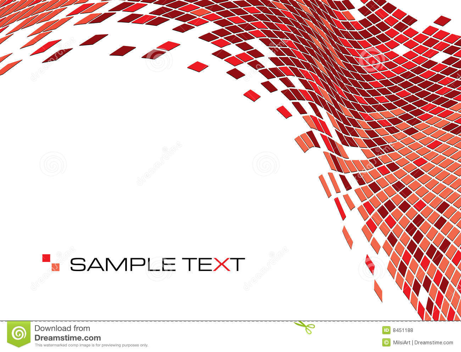 Röda fyrkanter