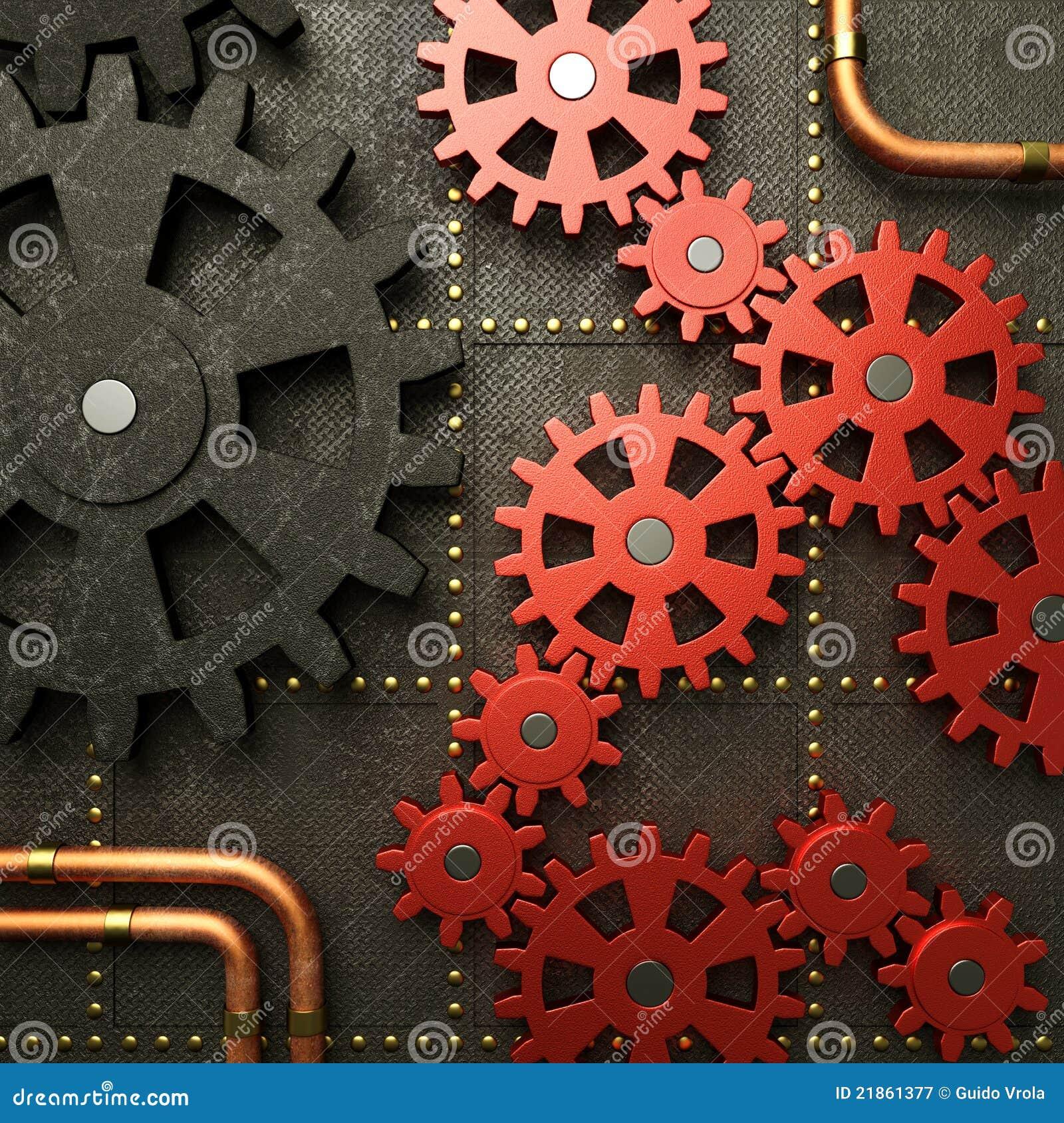 Röda kugghjul