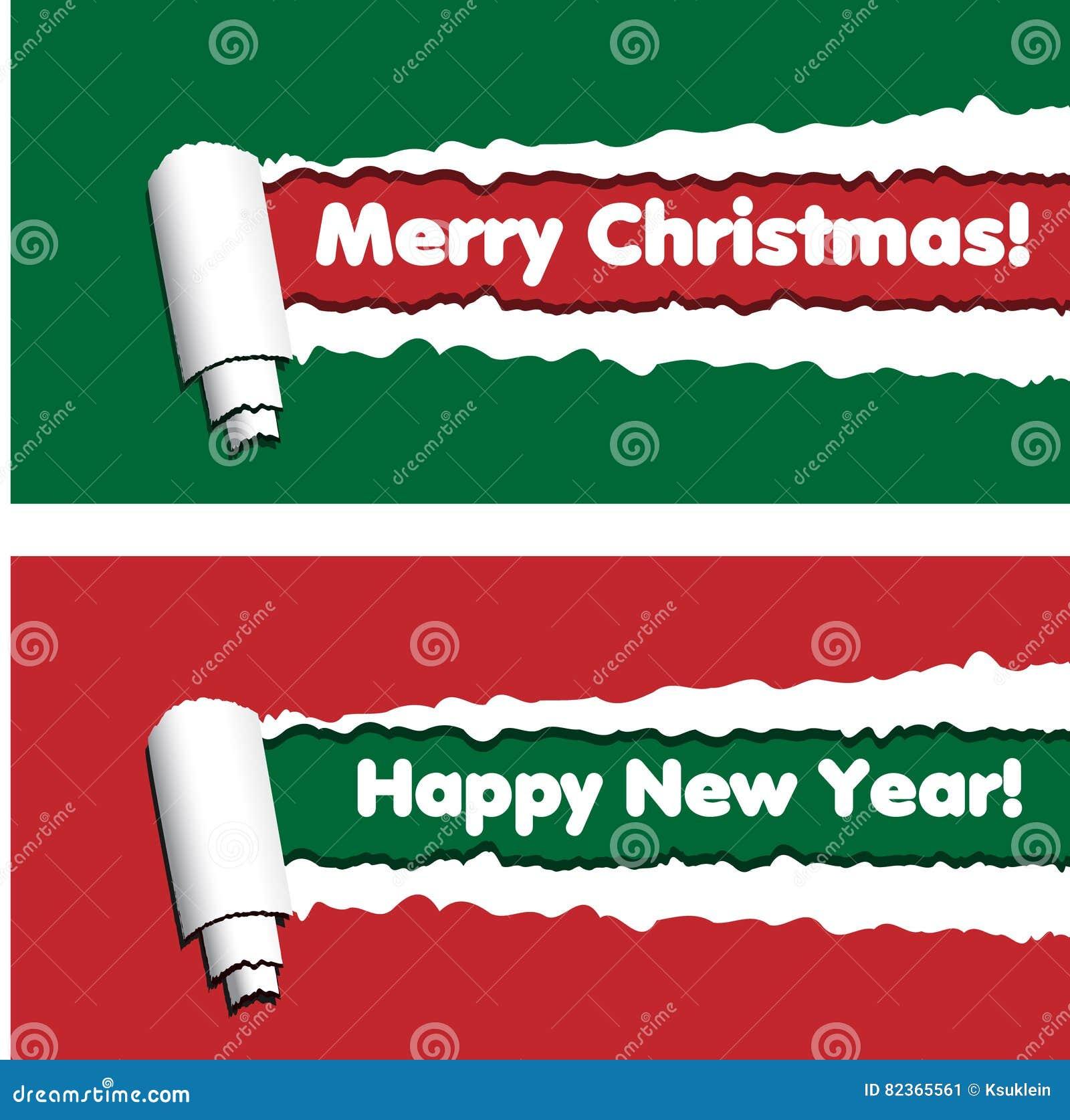 Röda och gröna horisontalbaner med sönderrivna band för rullande papper