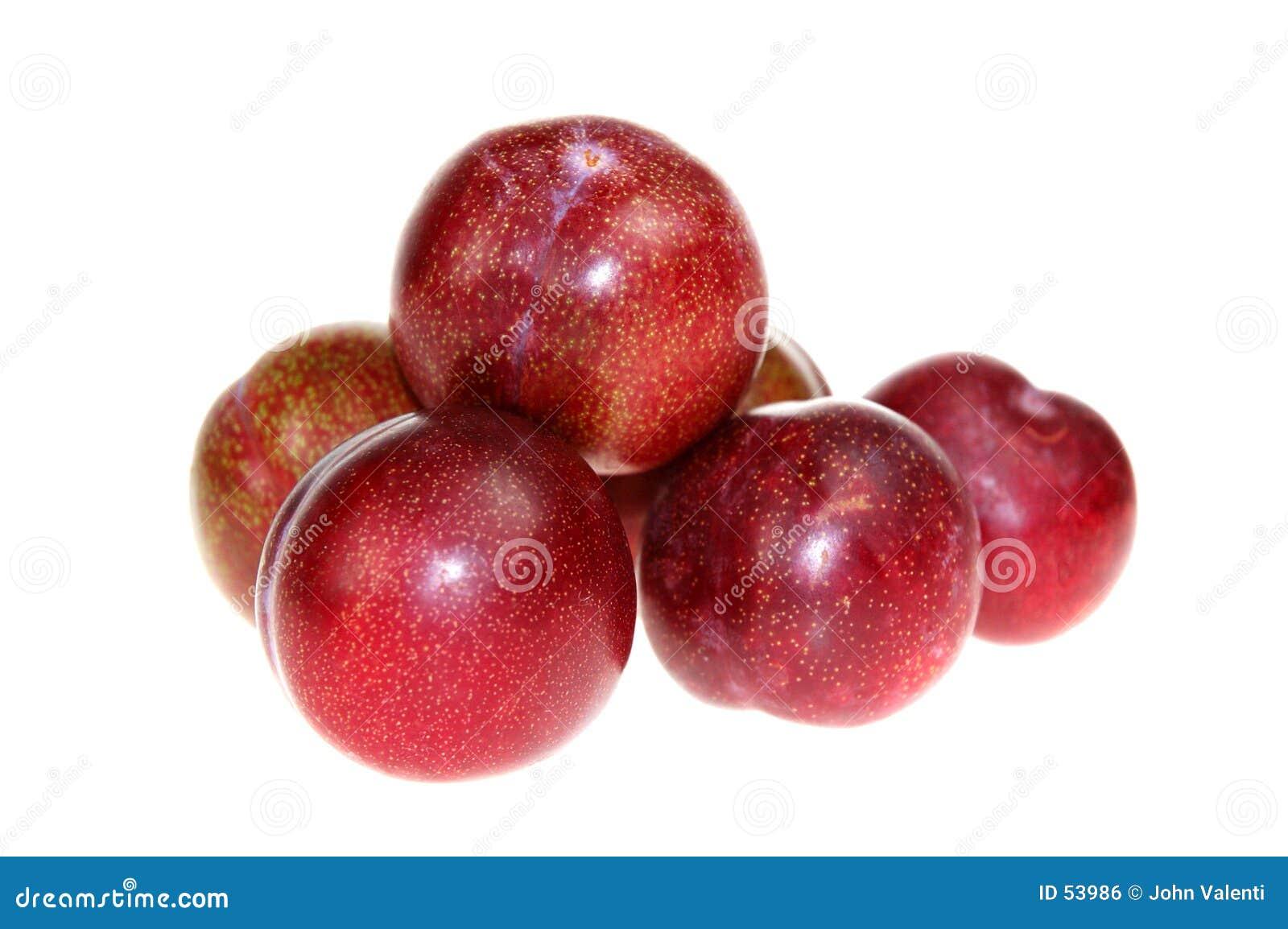 Röda plommoner