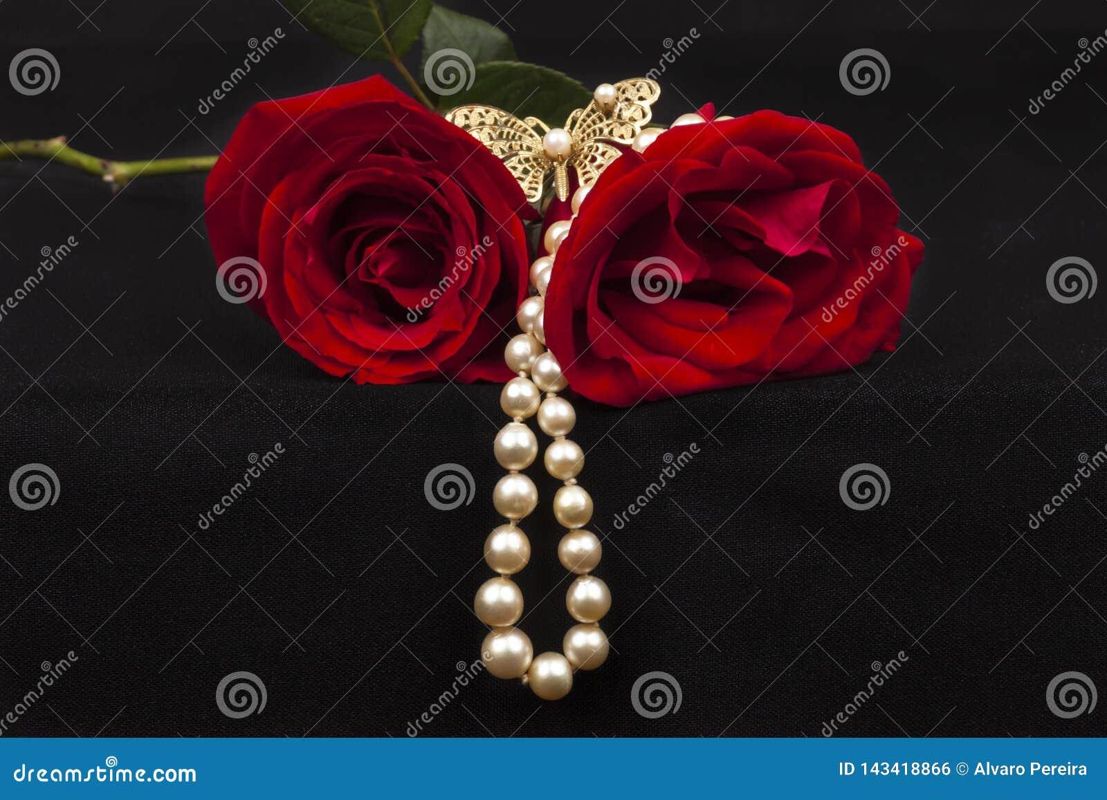Röda romantiska ro