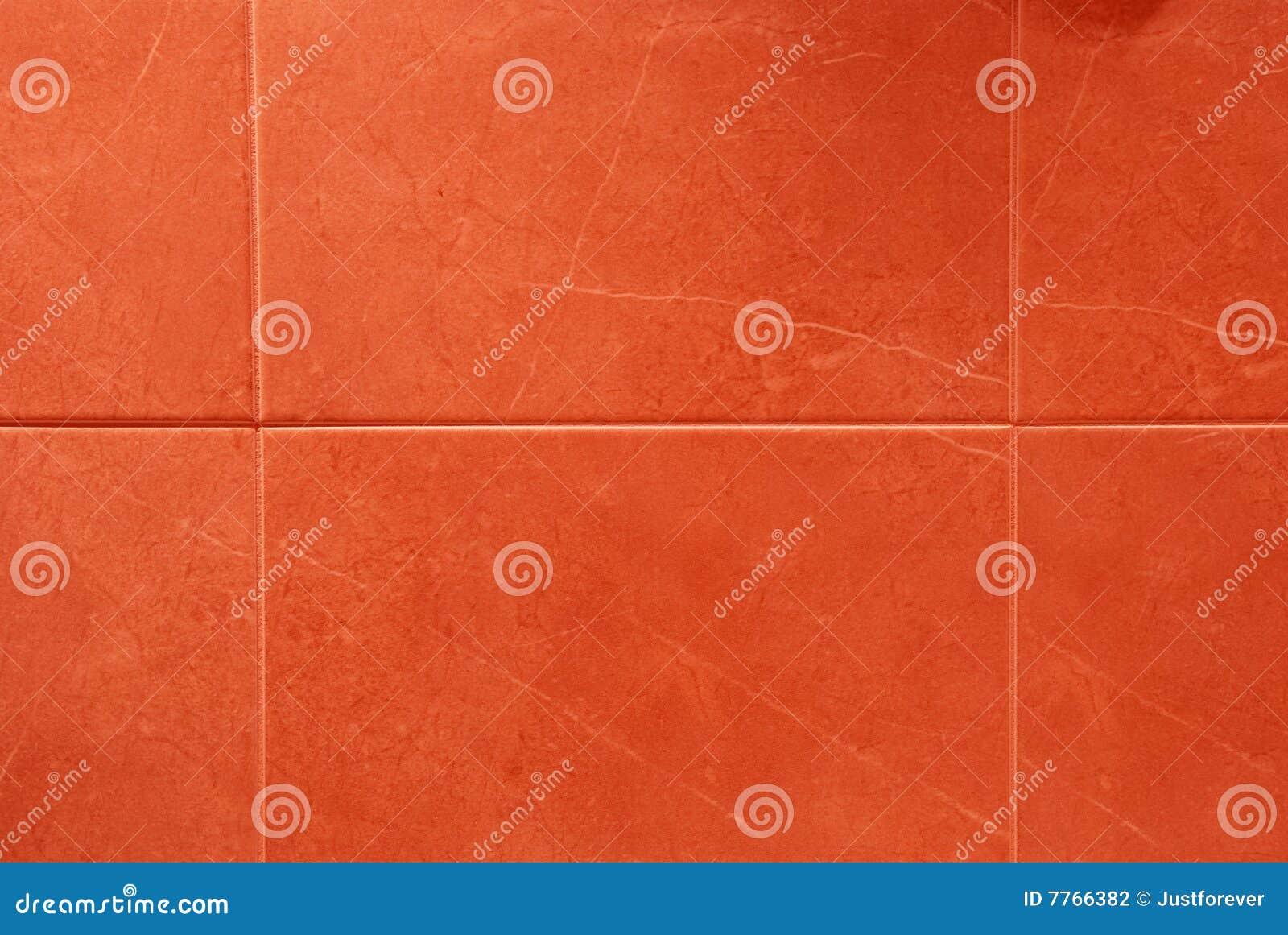 Röda tegelplattor