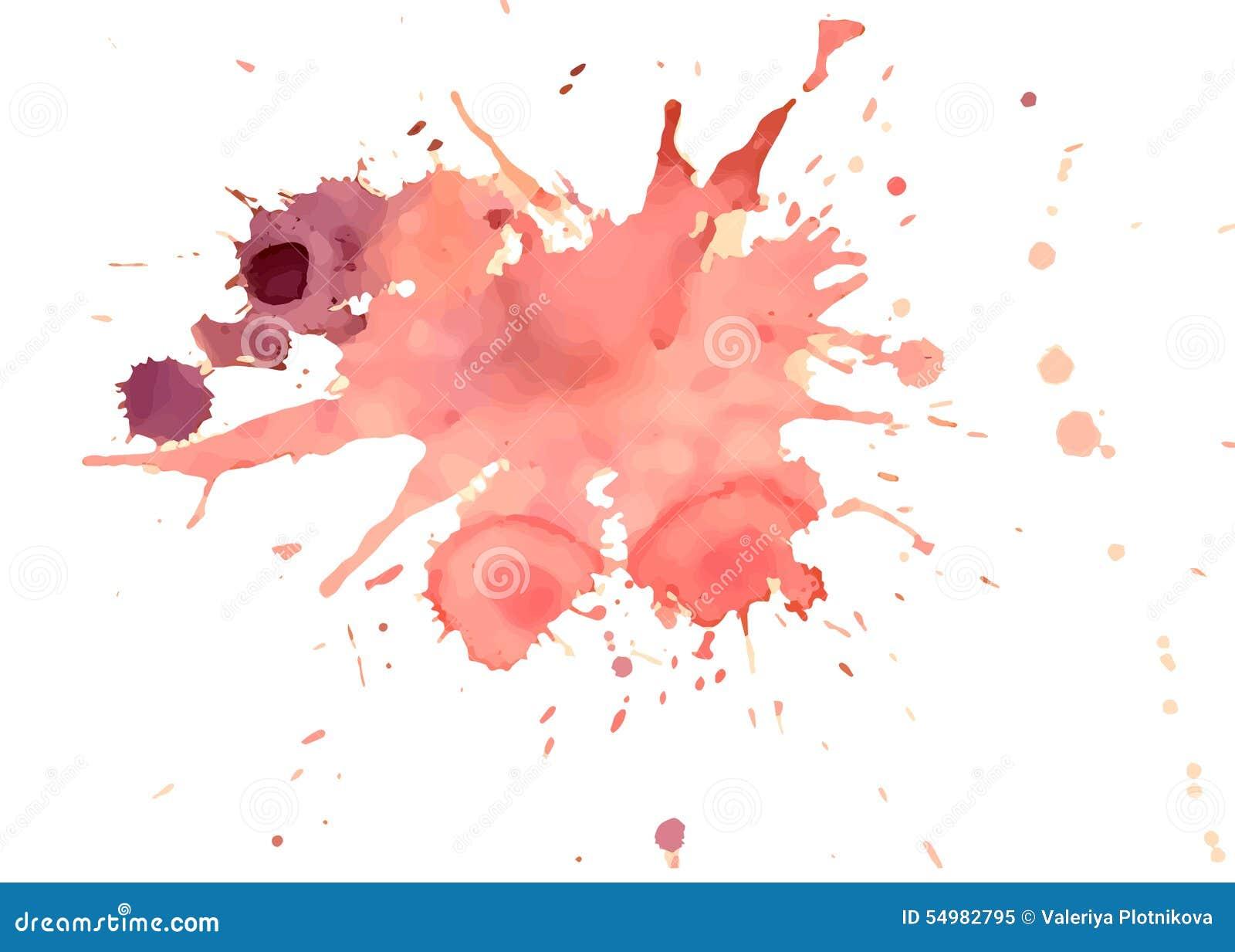 Röda vektorvattenfärgfärgstänk