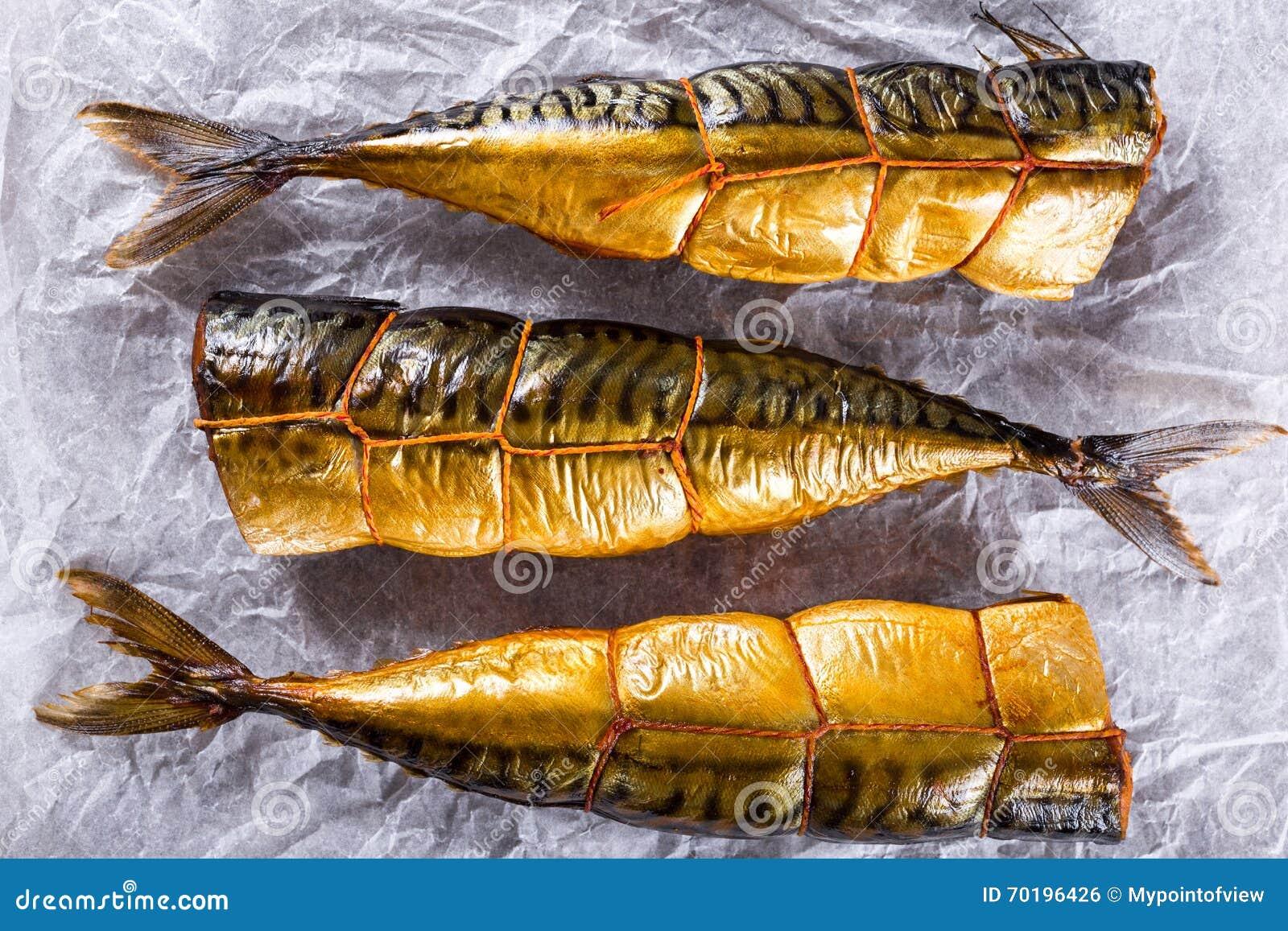 Rökt fiskmakrill eller Scombe, bästa sikt