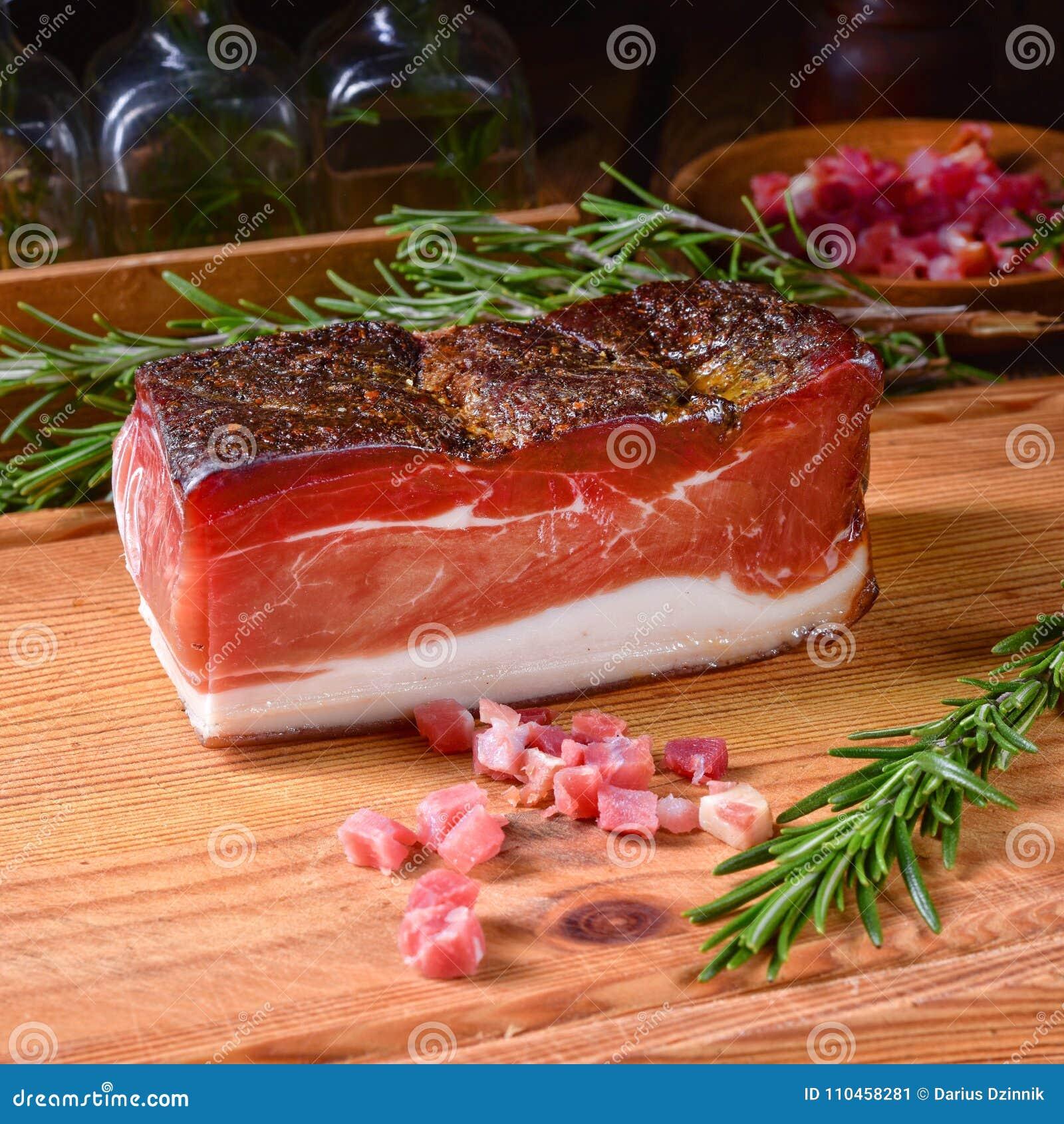 Rökt södra Tyrolean bacon