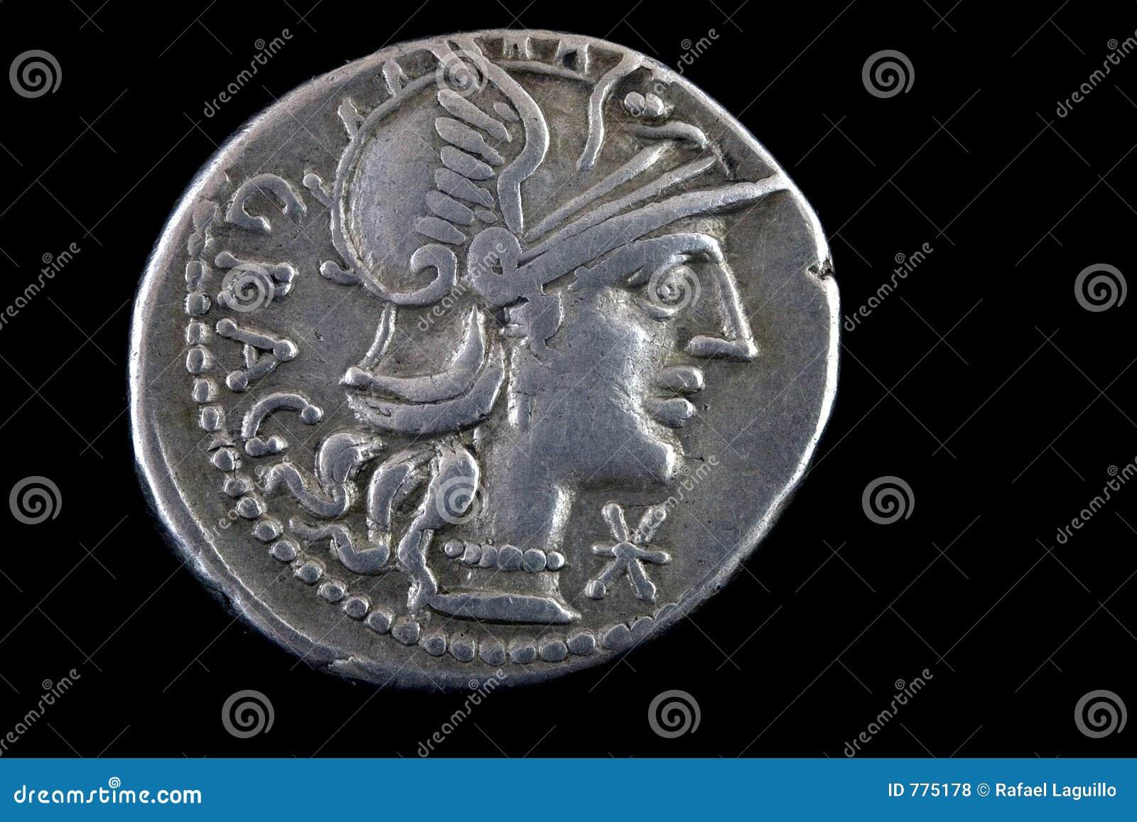 Römische Republikanische Münze 136 Bce Stockfoto Bild Von