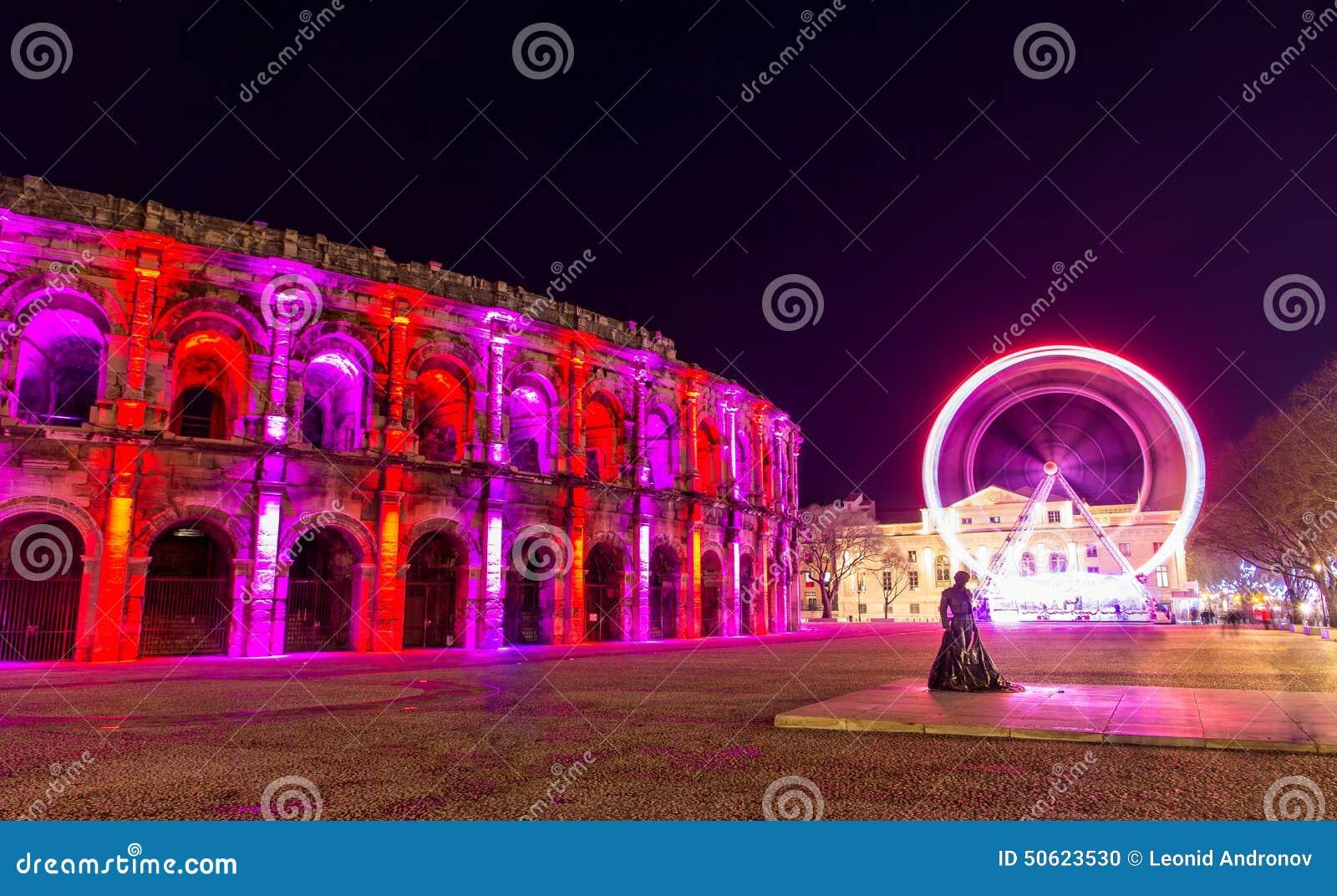 Römischer Amphitheatre, Arena von Nimes, in Frankreich