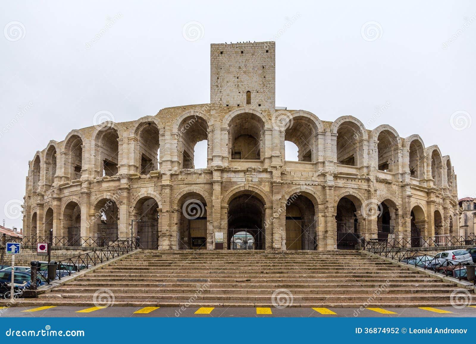 Römischer Amphitheatre in Arles - UNESCO-Welterbe in Frankreich