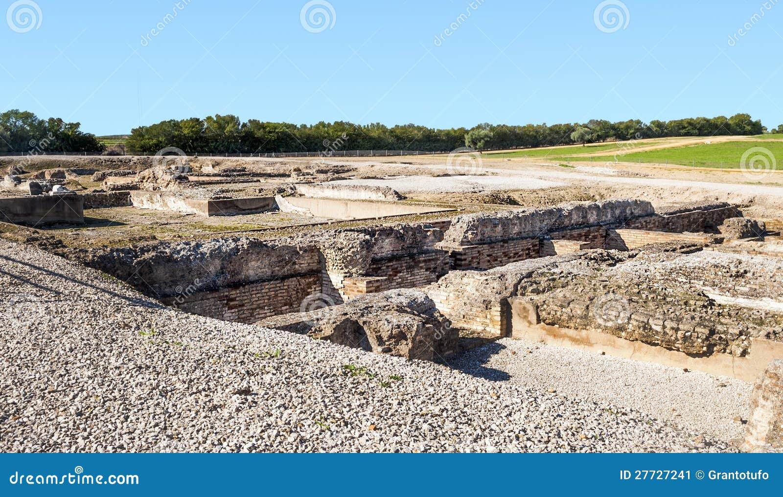 Römisches archäologisches bleibt