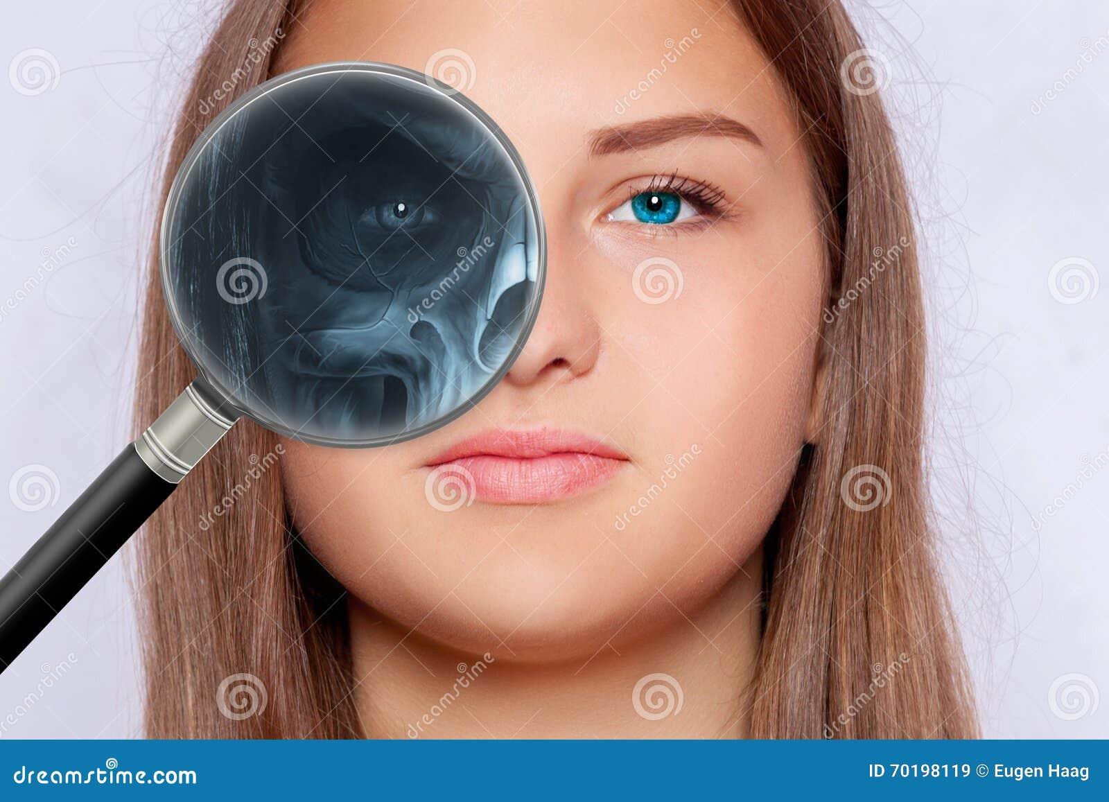 Röntgenbild av framsidan, oftalmologi
