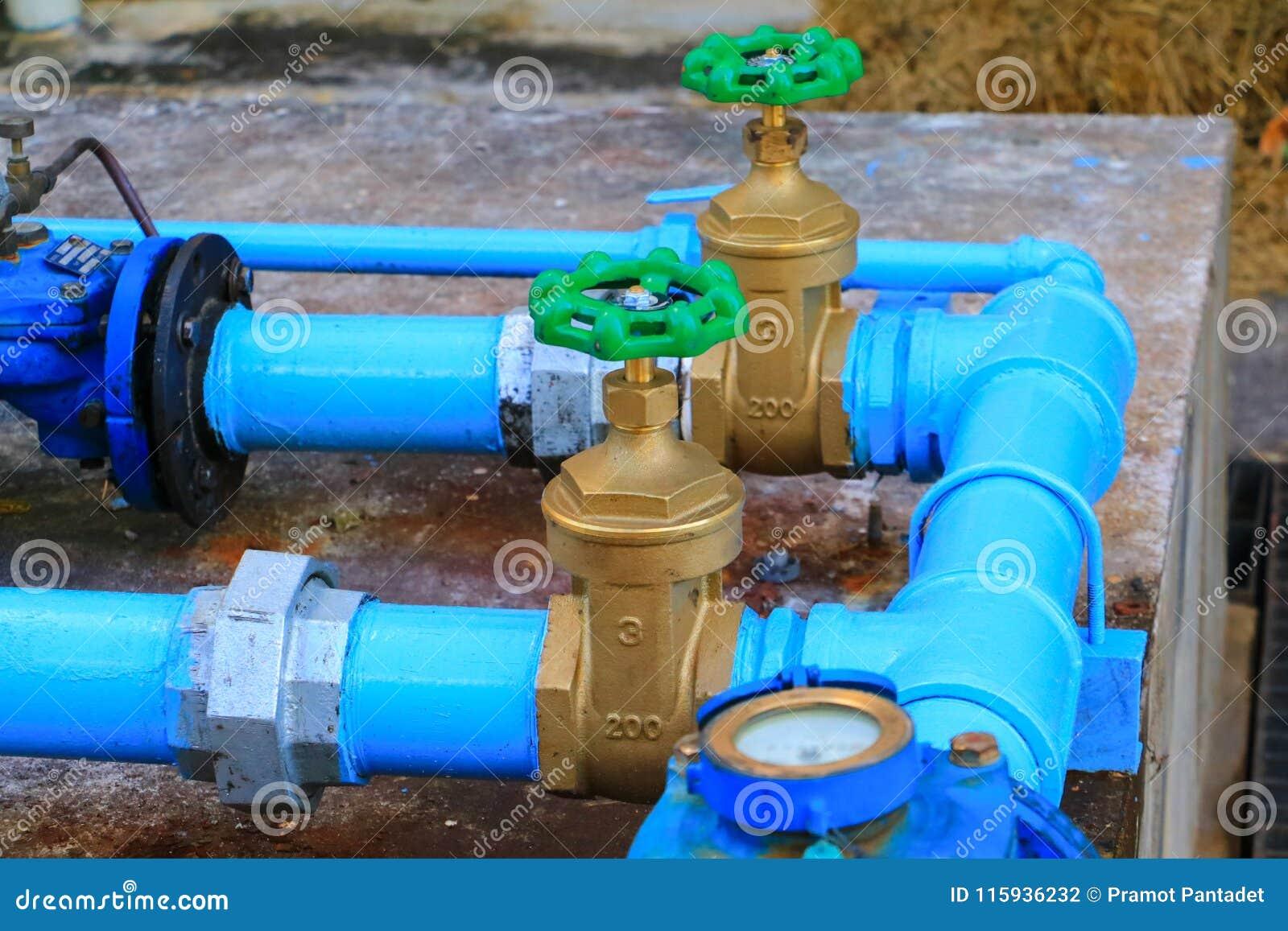 Rör för klapp för stål för skarv för vattenventilrörmokeri med grönt knoppslut upp