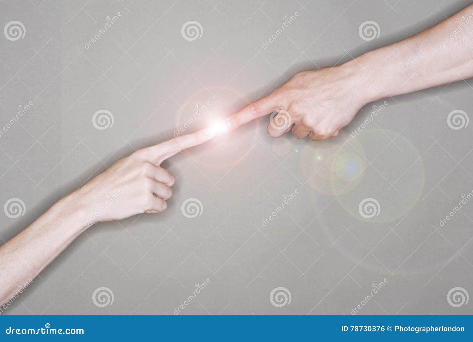 Rörande elektricitet för finger