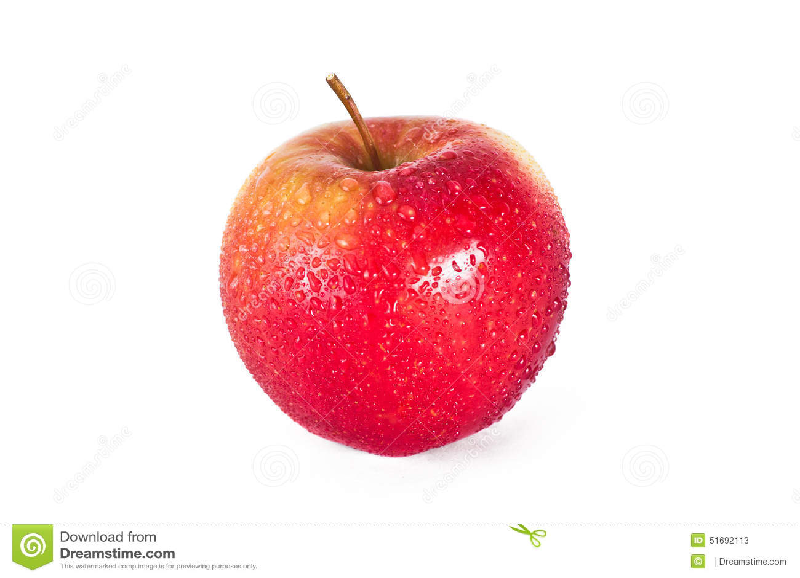 Rött äpple med droppar