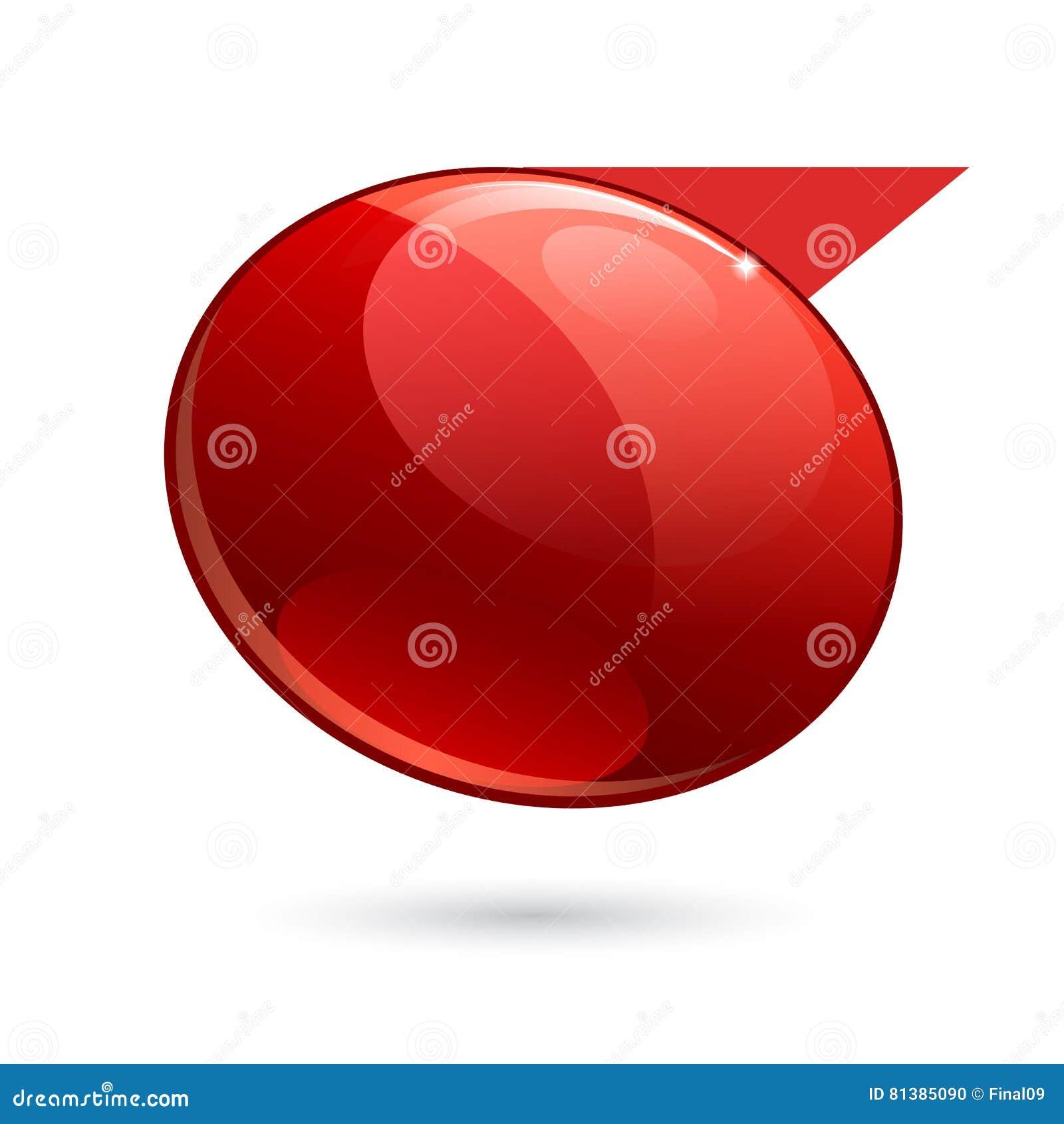 Rött baner 3d för skinande glans