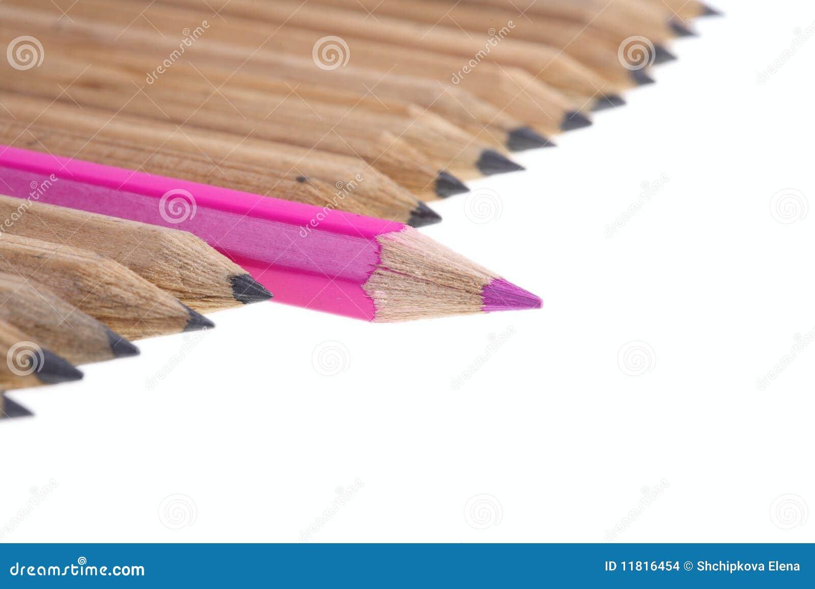 Rött enkelt för blyertspenna