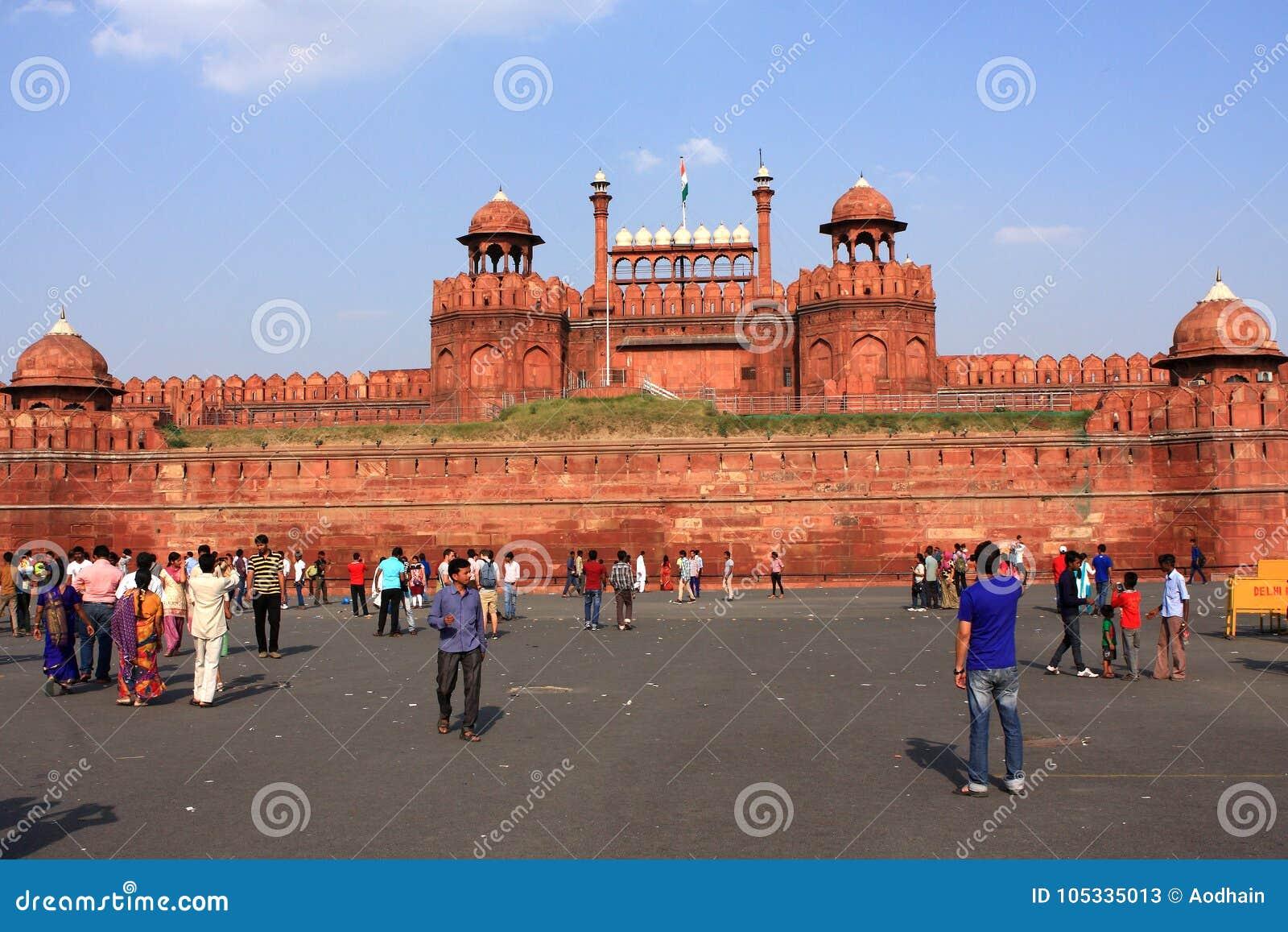 Rött fort New Delhi Indien
