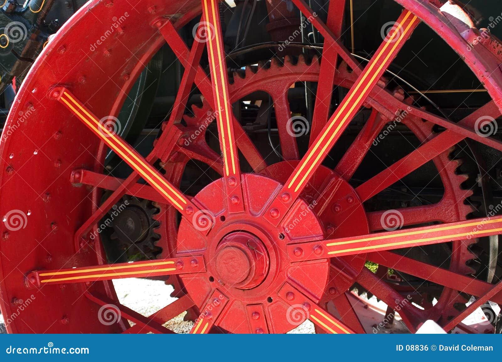 Rött hjul
