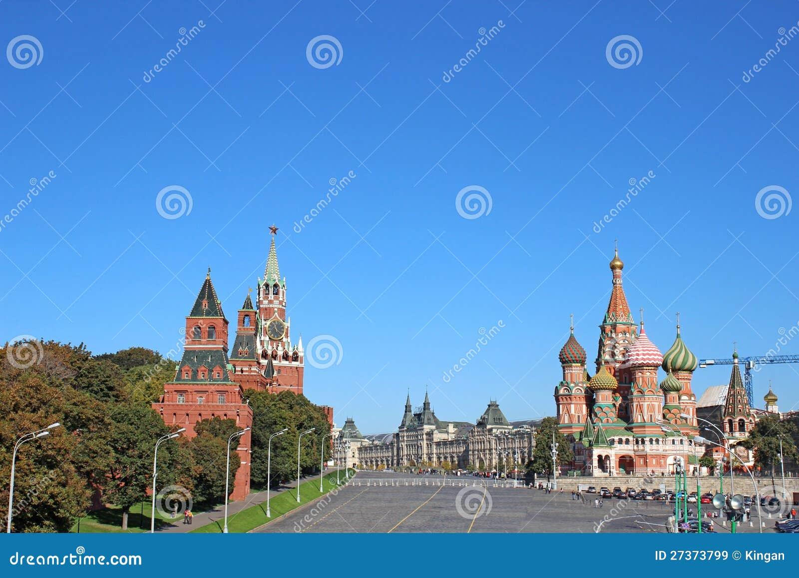 Rött kvadrera i Moscow