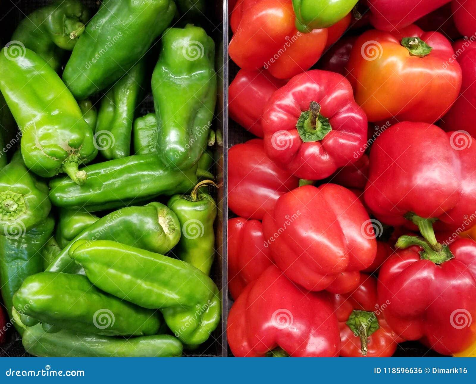 Rött och paprika