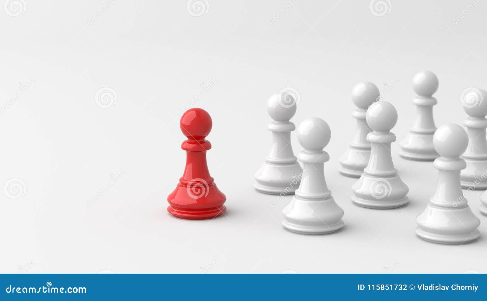 Rött pantsätta av schack